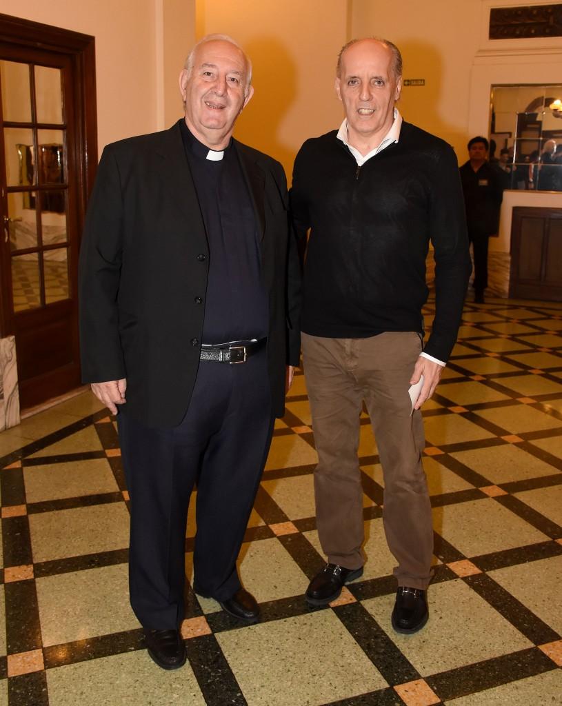 Carlos Accaputo, de la Pastoral Social, y Alejandro Amor, defensor del pueblo de la Ciudad