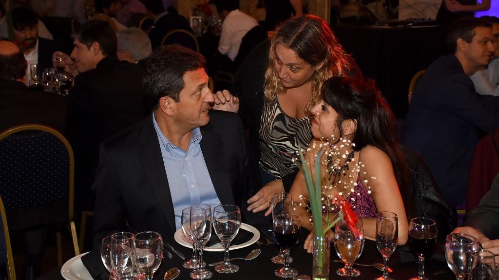 Sergio Massa, la legisladora porteña María Rachid y Victoria Donda