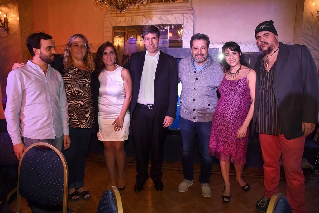 Leonardo Grosso, María Rachid, Laura Velasco, Juan Manuel Abal Medina, Víctor Santa María, Victoria Donda y Pablo Marchetti