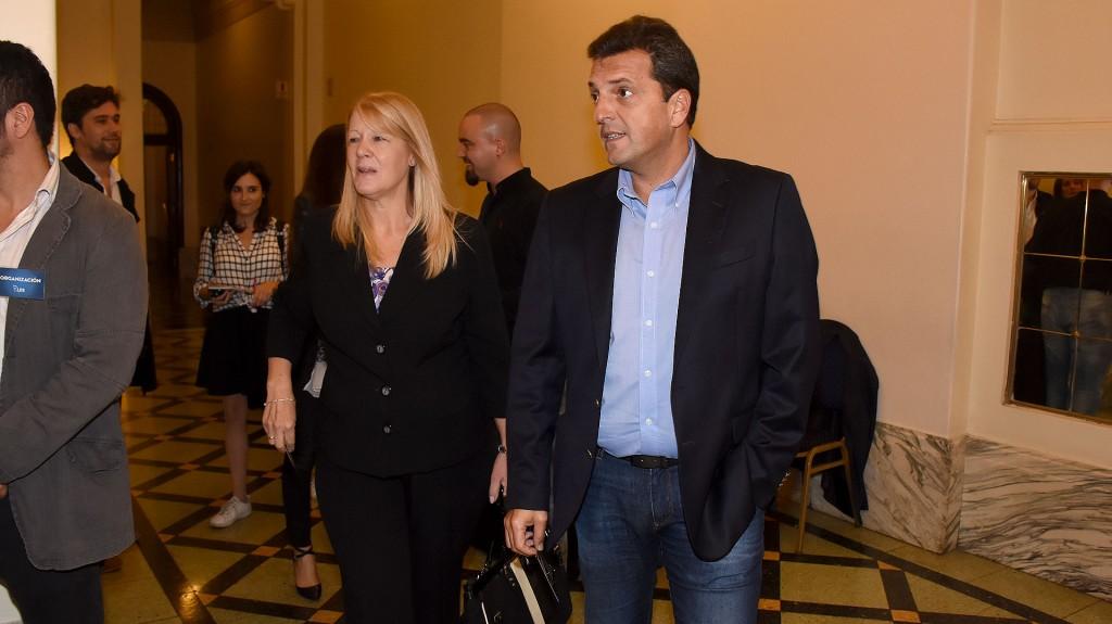Los diputados Margarita Stolbizer y Sergio Massa