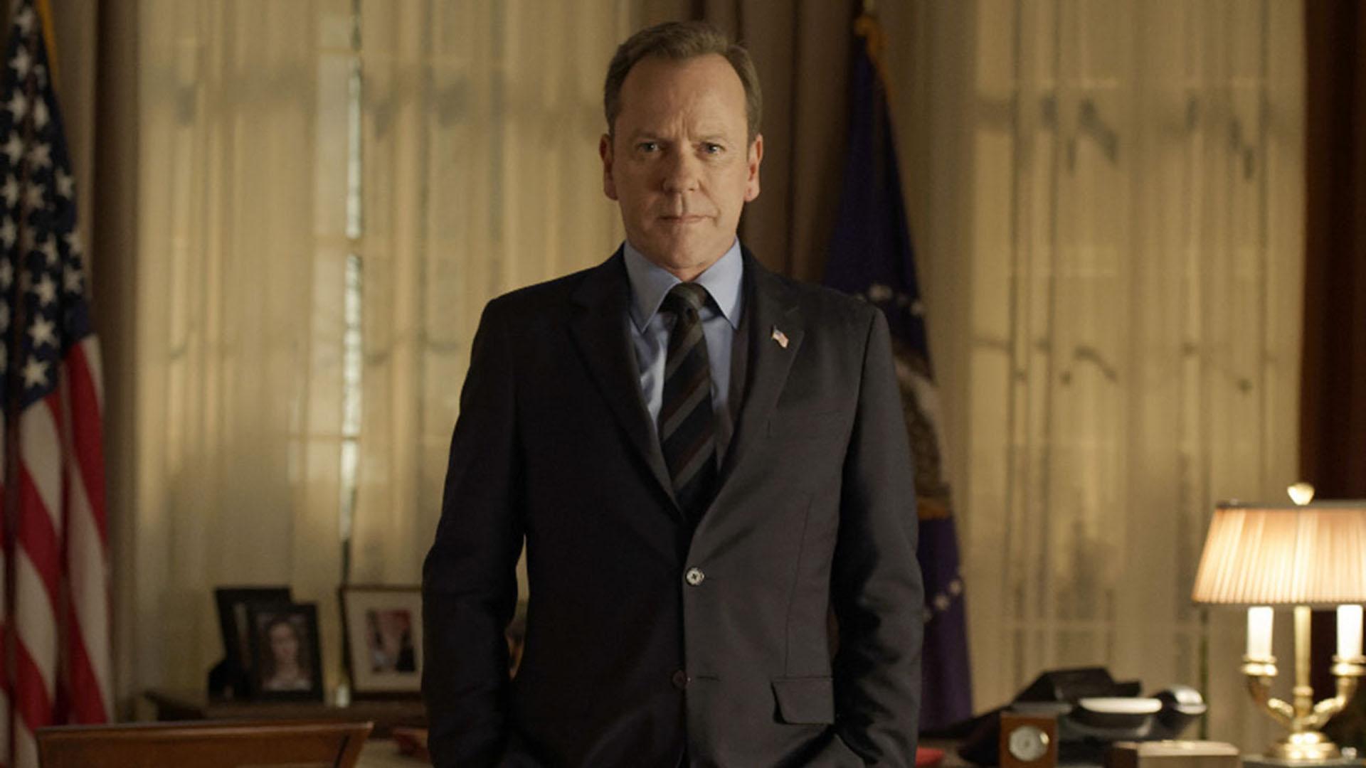 Kiefer Sutherland como Tom Kirkman en Designated Survivor