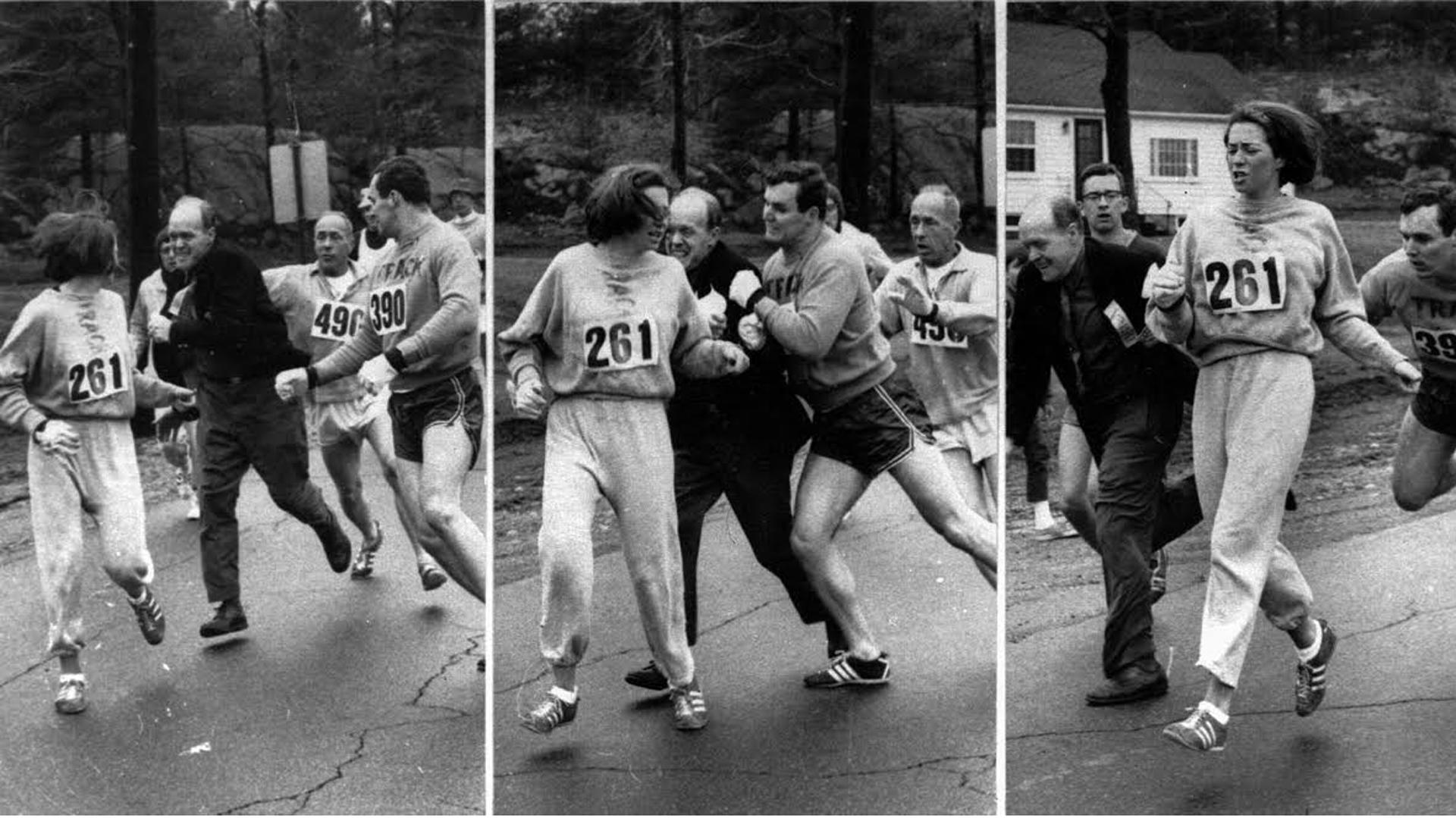 La foto icónica que cambió para siempre la historia del atletismo (Boston Herald)