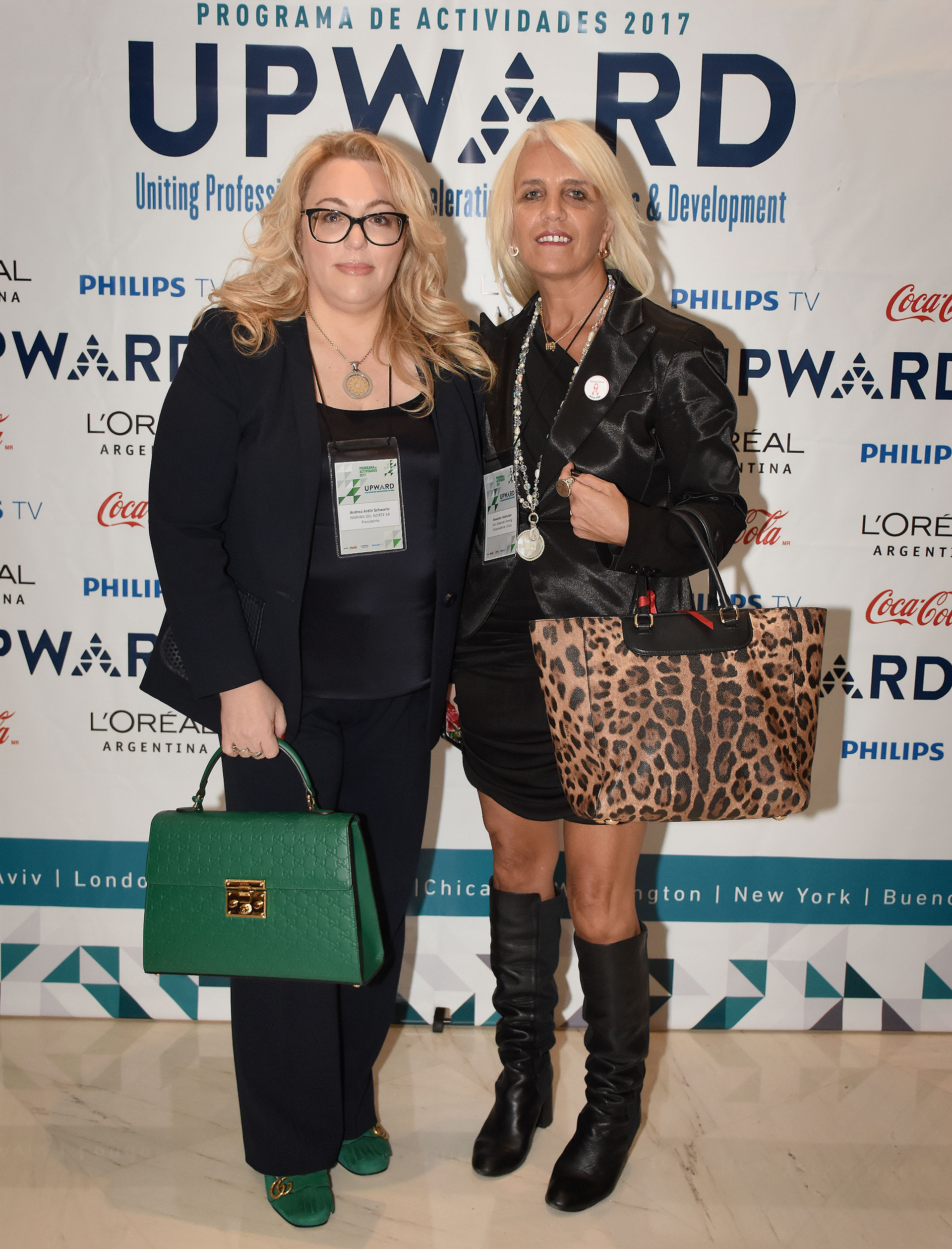 Andrea Arditi Schwartz (Marina del Norte) y Alejandra Rubinstein (Instituto Alexander Fleming)