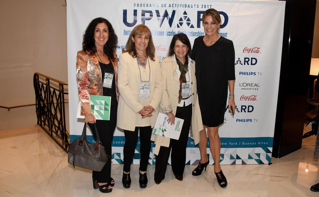 Andrea Consolini, Claudia Segovia, Inés Leopoldo (YPF) y Nequi Galotti