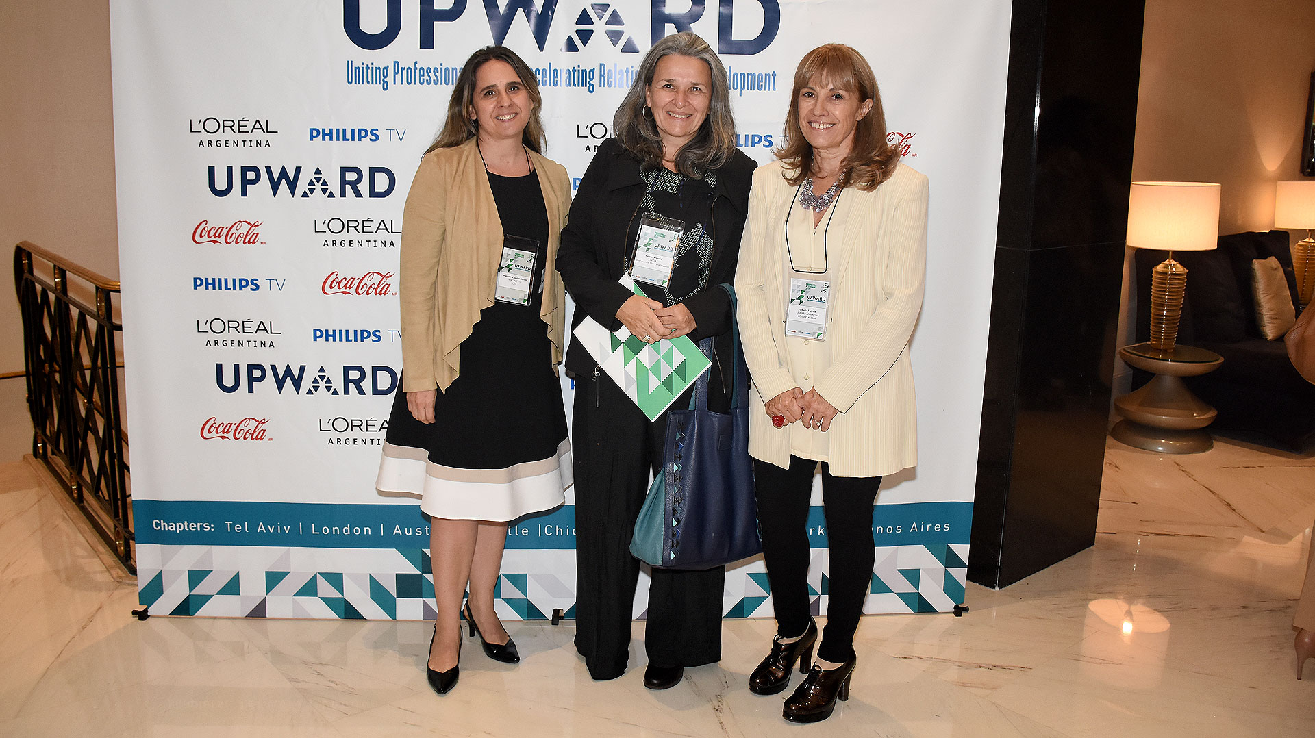 Magdalena Aguilar Astrada (Mac Talento – Desarrollo Humano), Raquel Arévalo (INICIA) y Claudia Segovia
