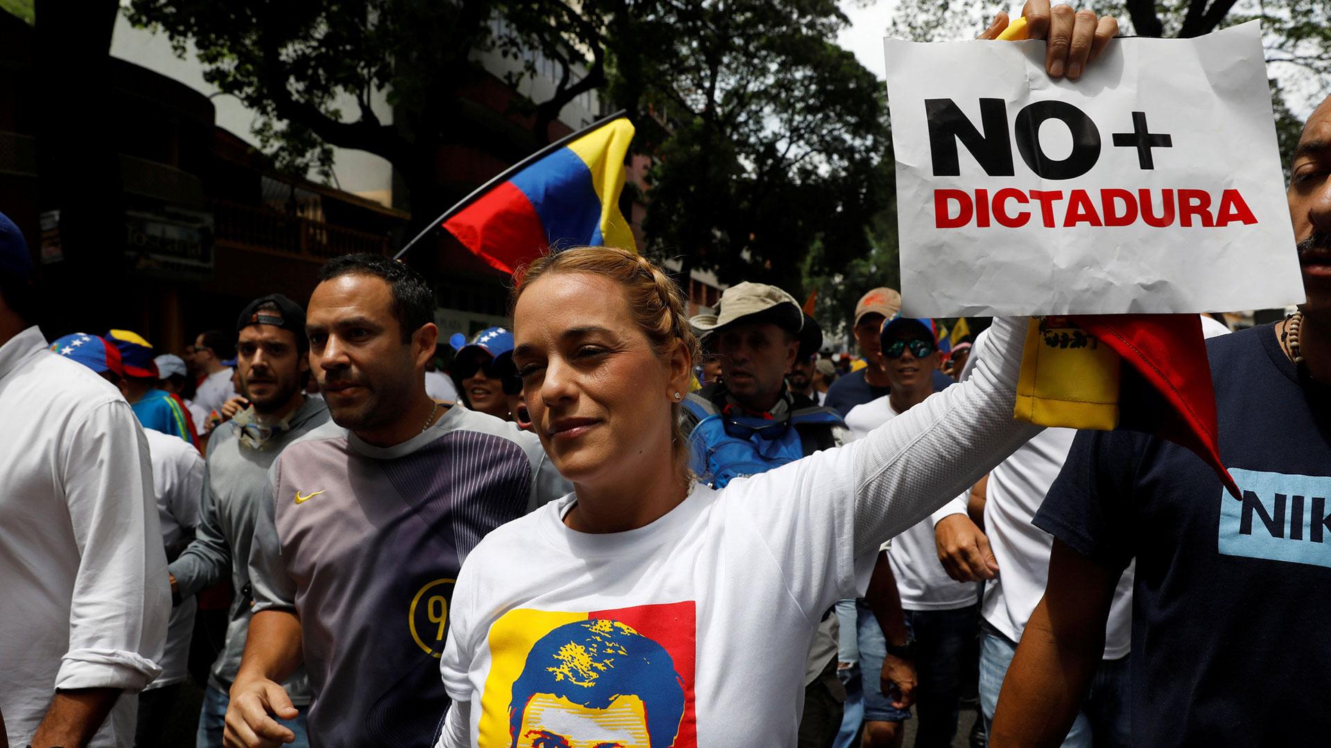 Lilian Tintori pidió por la libertad de todos los presos políticos (Reuters)