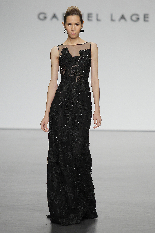 El modisto argentina brilló con sus colección Sofía en Madrid. Una propuesta completa de vestidos de fiesta con una paleta de colores pasteles y el clásico negro de Gabriel Lage