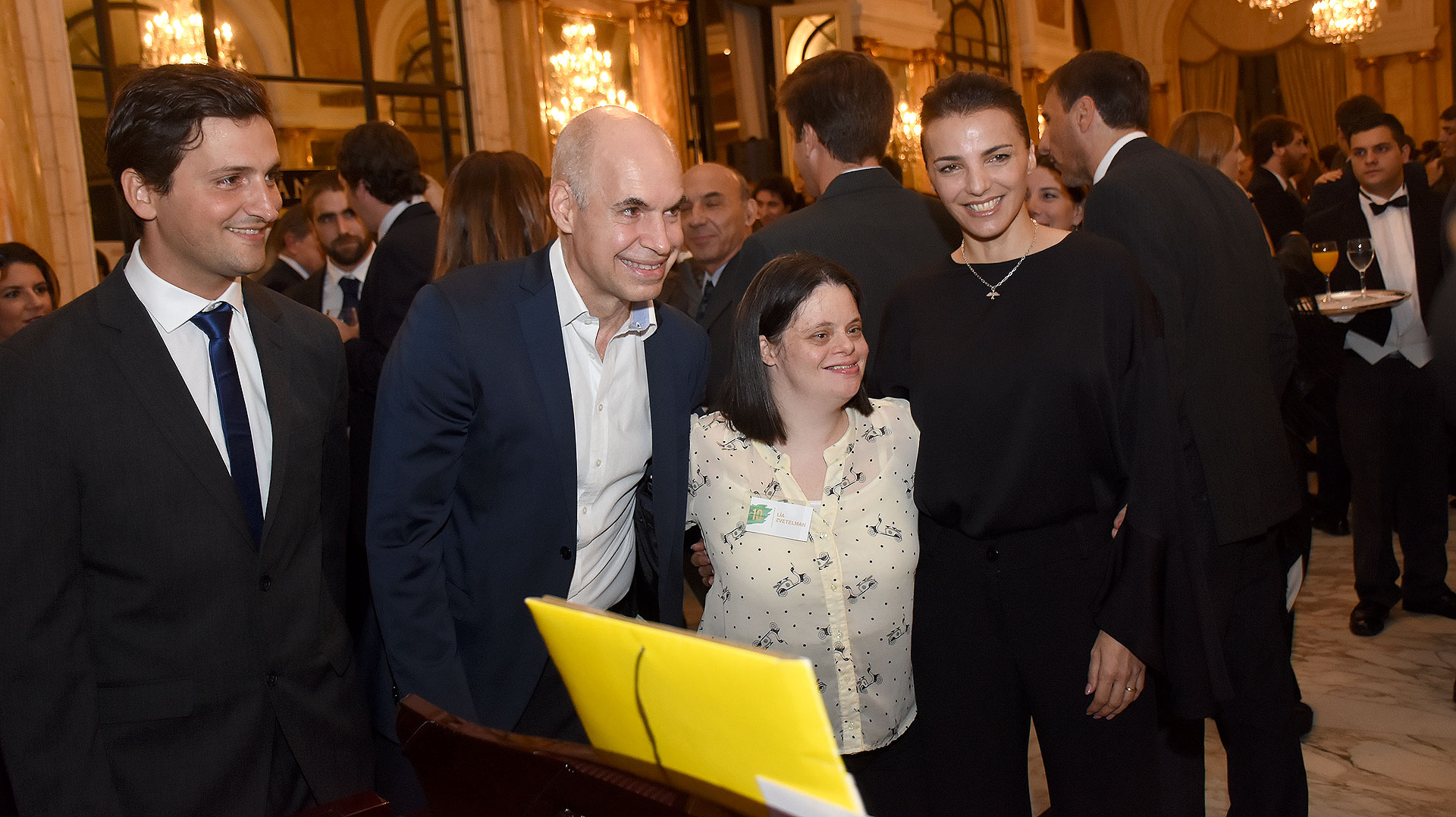 Javier Ureta Saenz Peña recibió al jefe de Gobierno porteño, Horacio Rodríguez Larreta, y a su esposa, Bárbara Diez
