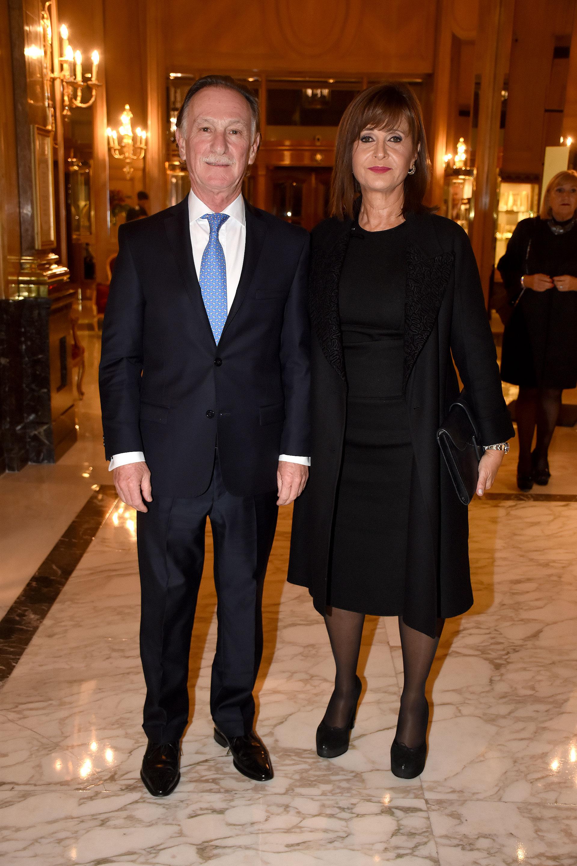 Gustavo Weiss, presidente de la Cámara Argentina de la Construcción, y su mujer Myriam Levi