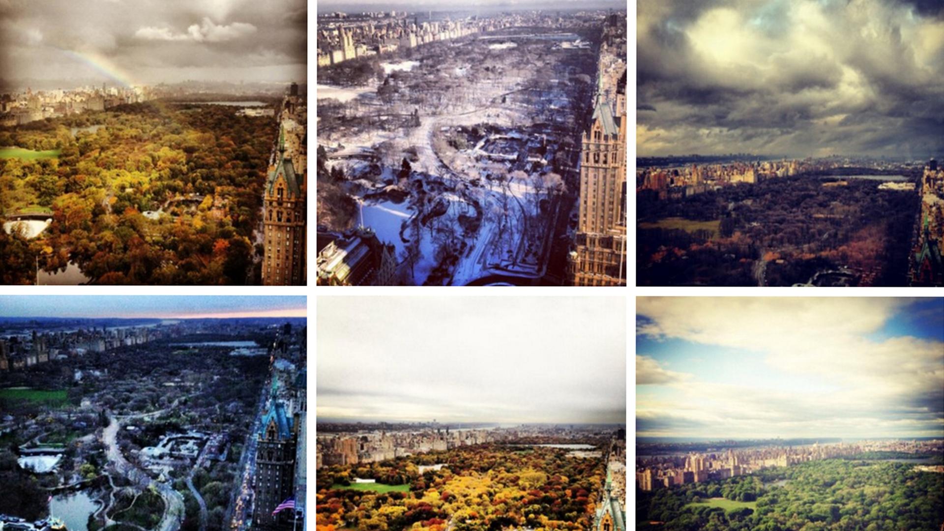Captura de las fotos que subió Melania de las vistas desde su hogar de NYC (twitter Melania Trump)