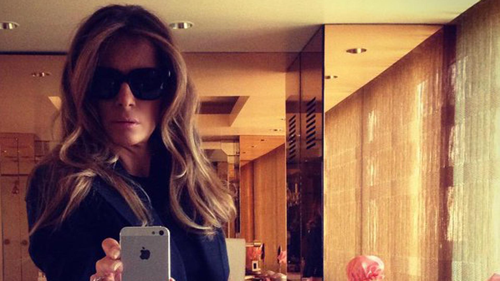 La ex modelo nunca deja ver su cara (Twitter Melania Trump)