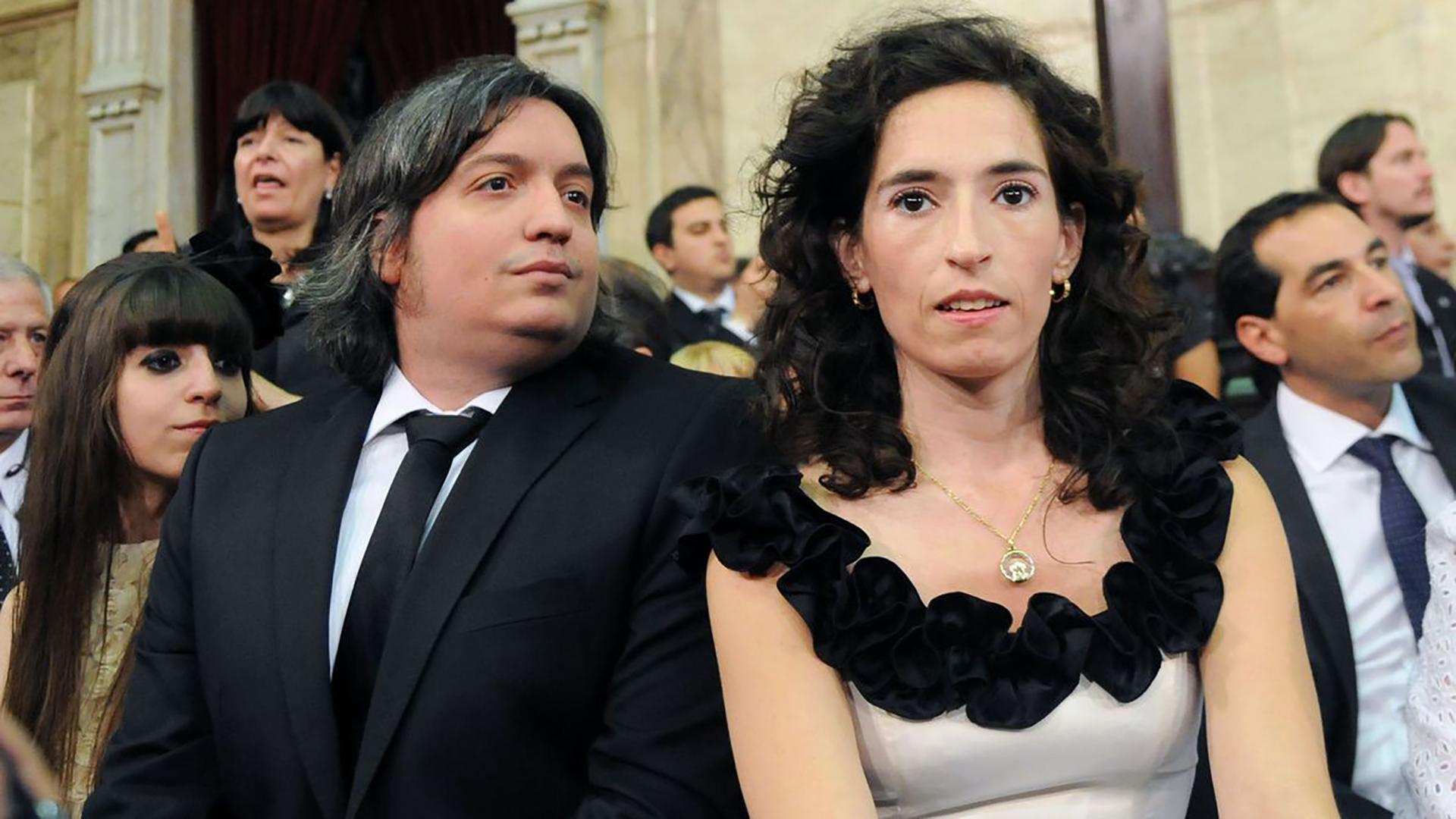 Máximo Kirchner y Rocío García (NA)