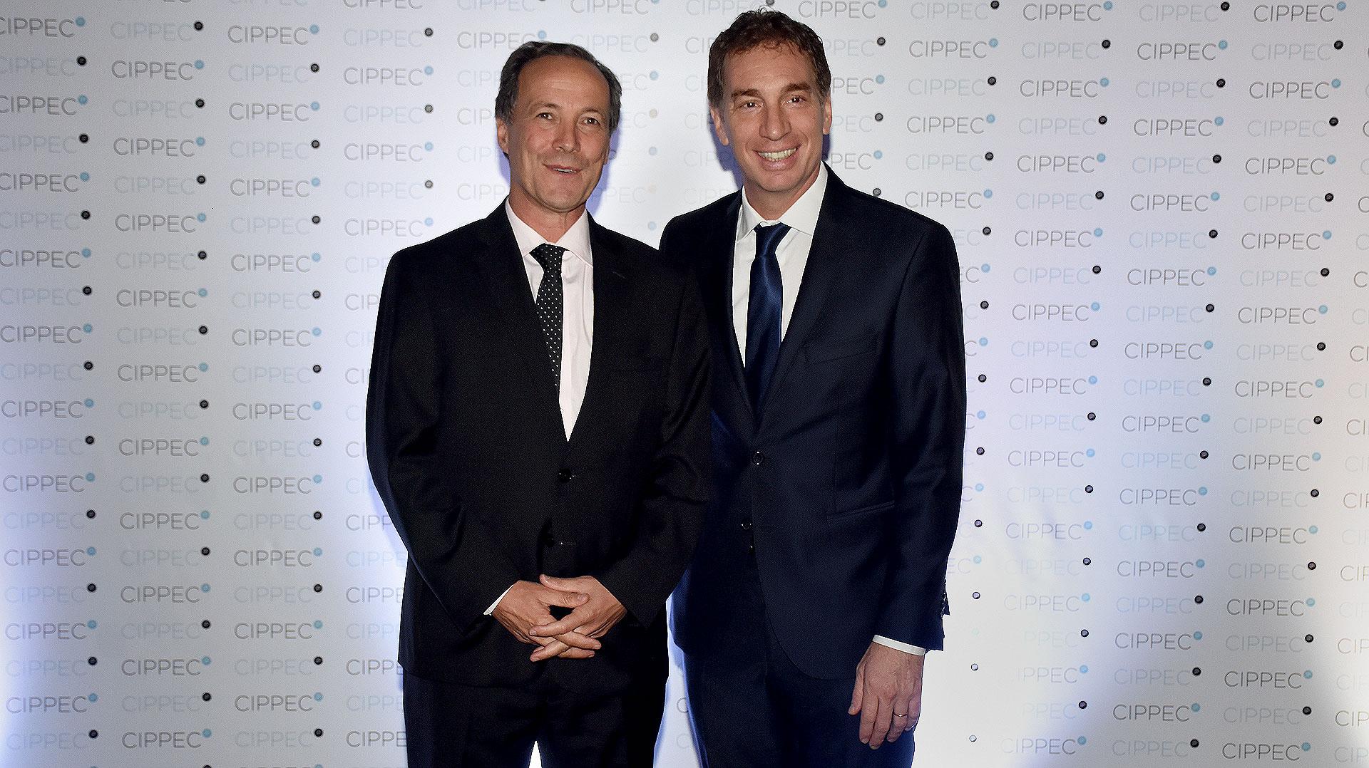 El diputado Rubén Giustiniani y el vicejefe de Gobierno porteño, Diego Santilli