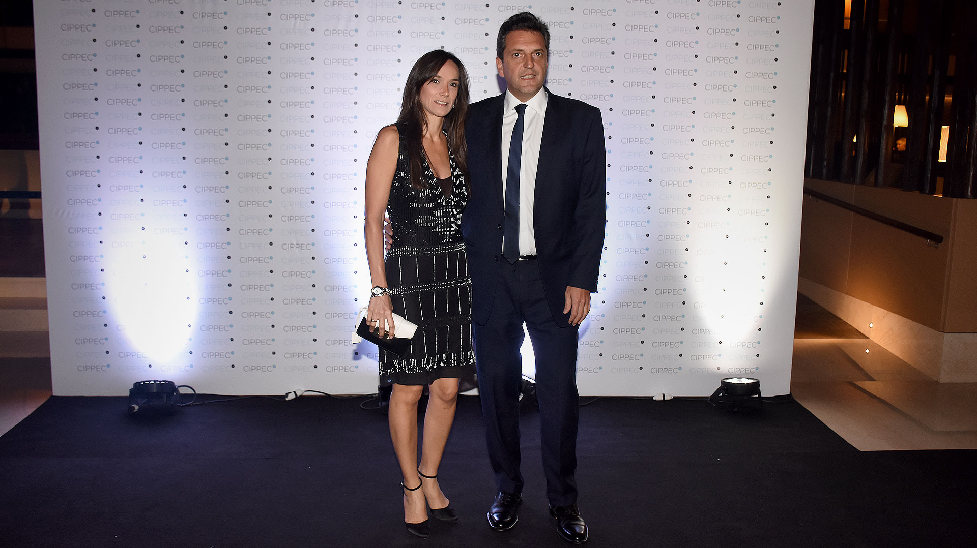 El diputado Sergio Massa y su mujer, Malena Galmarini