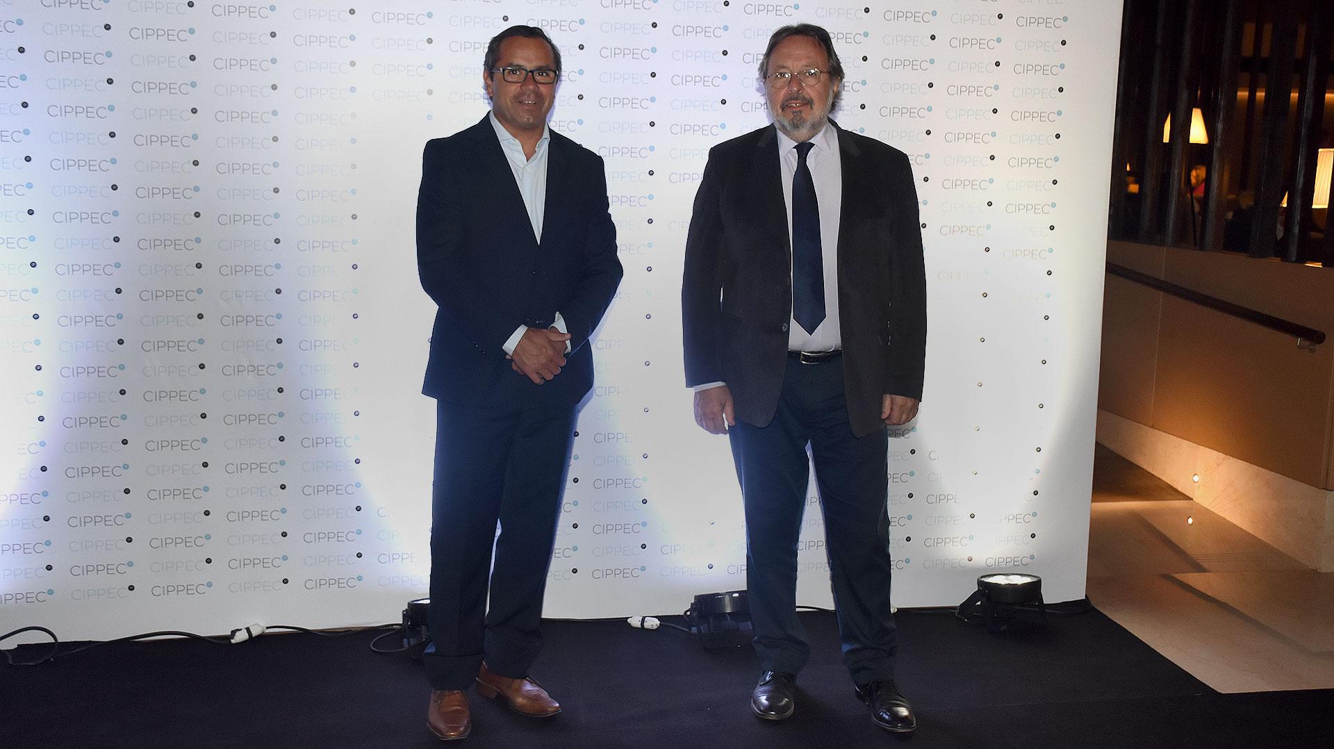 Gastón Urquiza y Pedro Del Piero, director ejecutivo y presidente de la Fundación Metropolitana, respectivamente