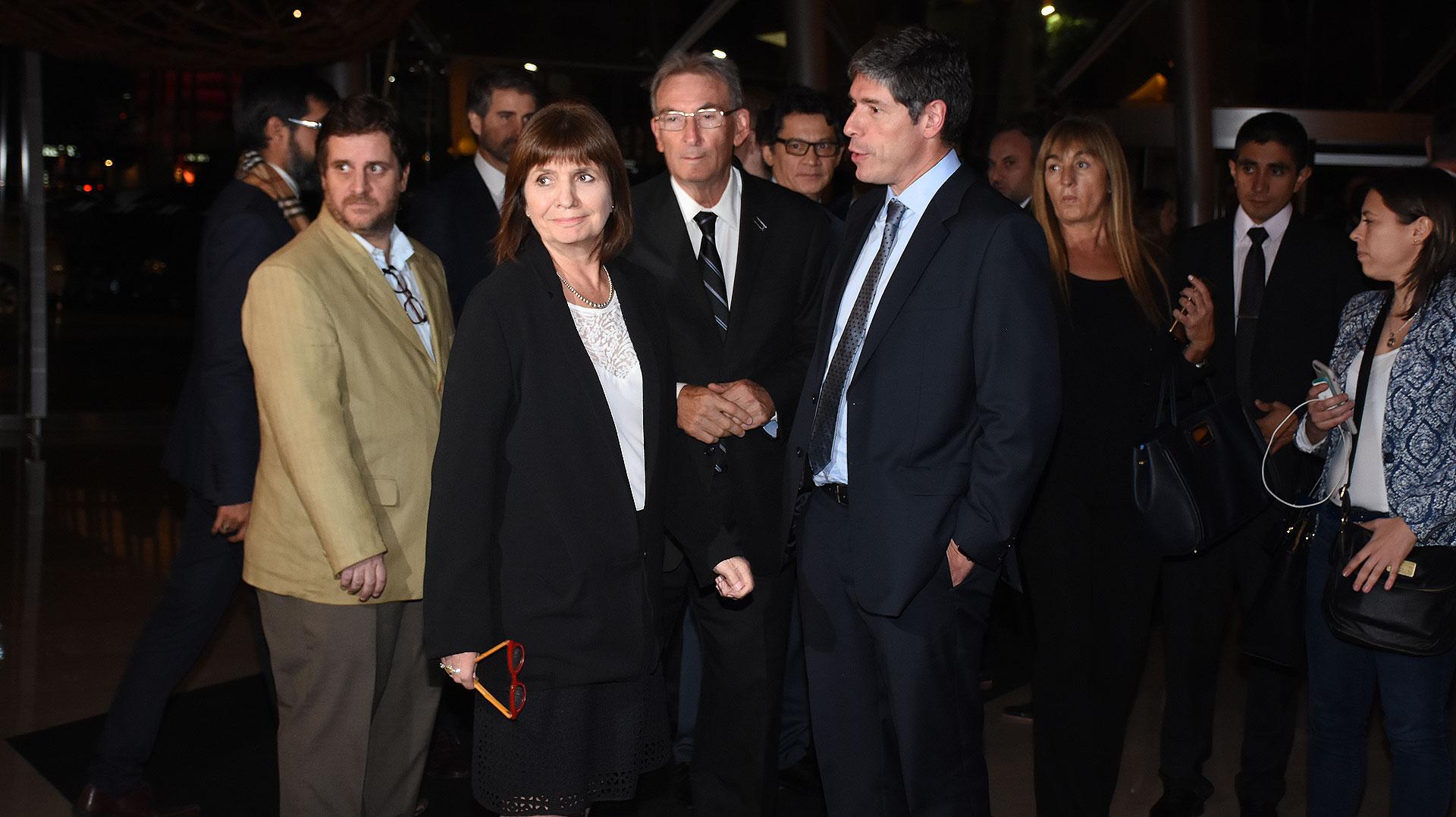 Patricia Bullrich, Guillermo Yanco y Juan Manuel Abal Medina