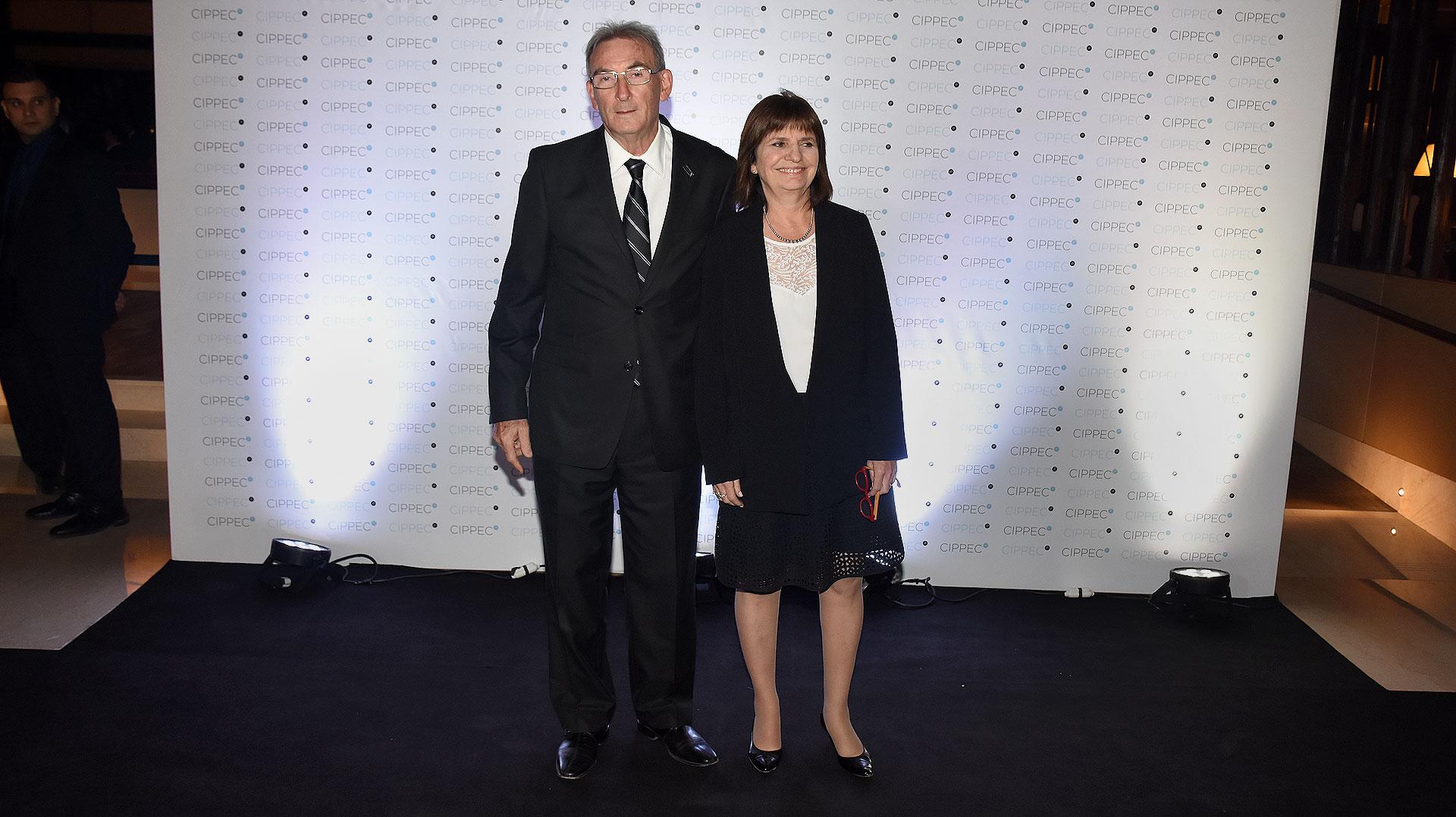 La ministra de Seguridad, Patricia Bullrich, y su marido Guillermo Yanco