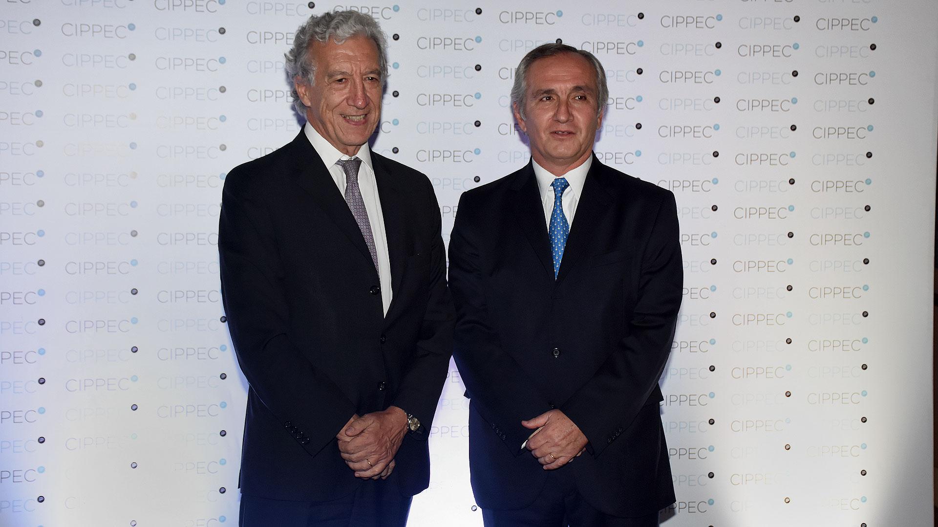 Jaime Campos, presidente de la Asociación Empresaria Argentina, y Guillermo Lipera, presidente del Colegio de Abogados de la Ciudad de Buenos Aires