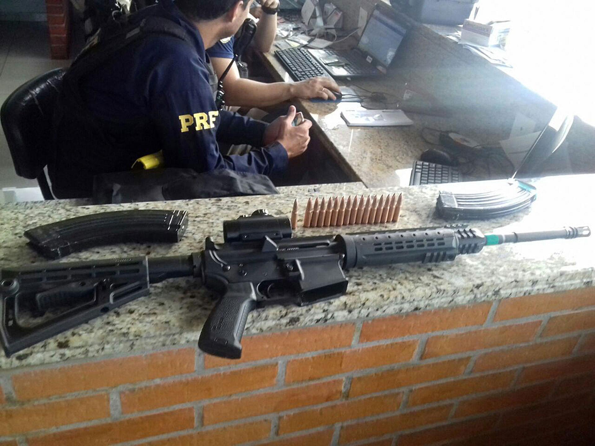 Una de las armas utilizadas en el asalto