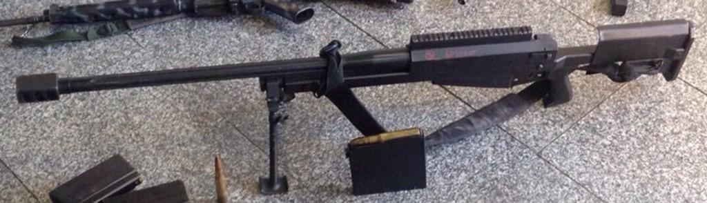 El fusil casero capturado en Río de Janeirojunto a su cargador estaba en poder de una banda de narcotraficantes (Globo)