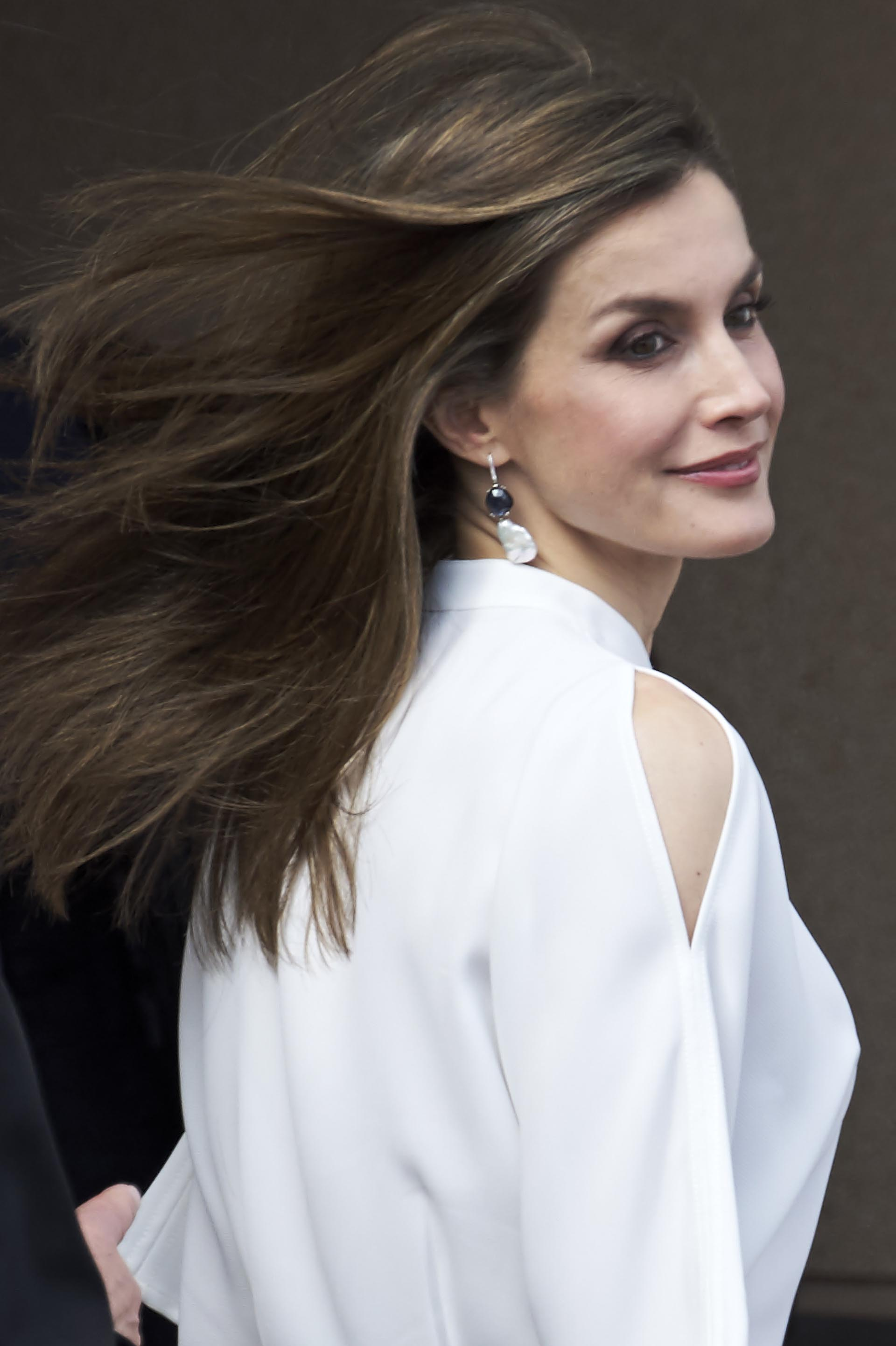 Reina letizia con pelo corto
