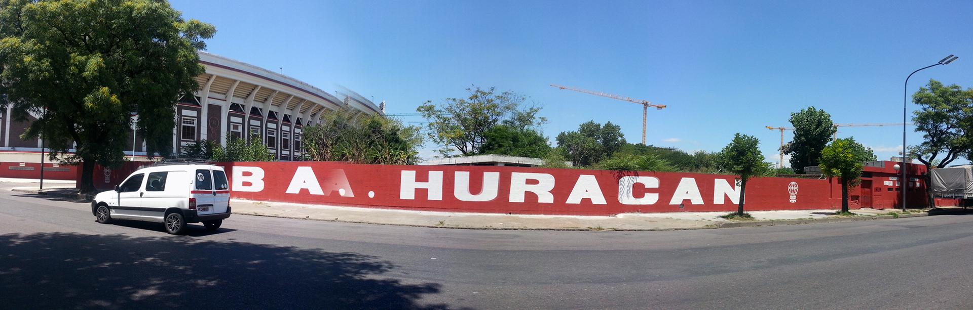 El frente de los terrenos que habían sido cedidos a Huracán