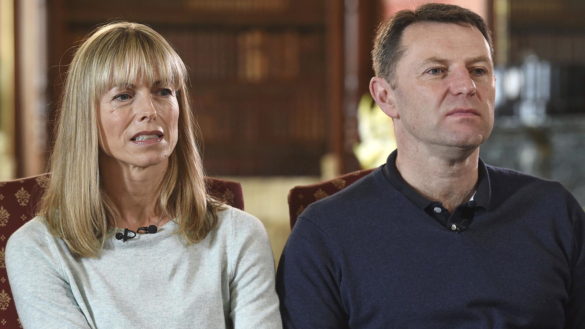 Kate y Gerry McCann, durante una entrevista televisiva (AP)