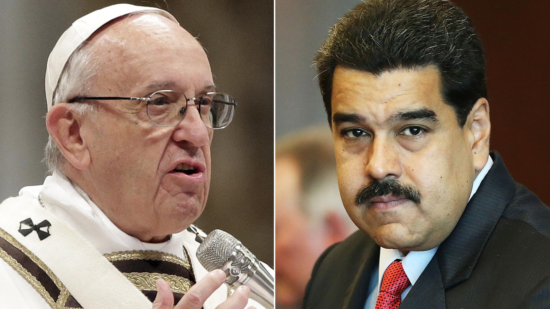 El papa Francisco y Nicolás Maduro