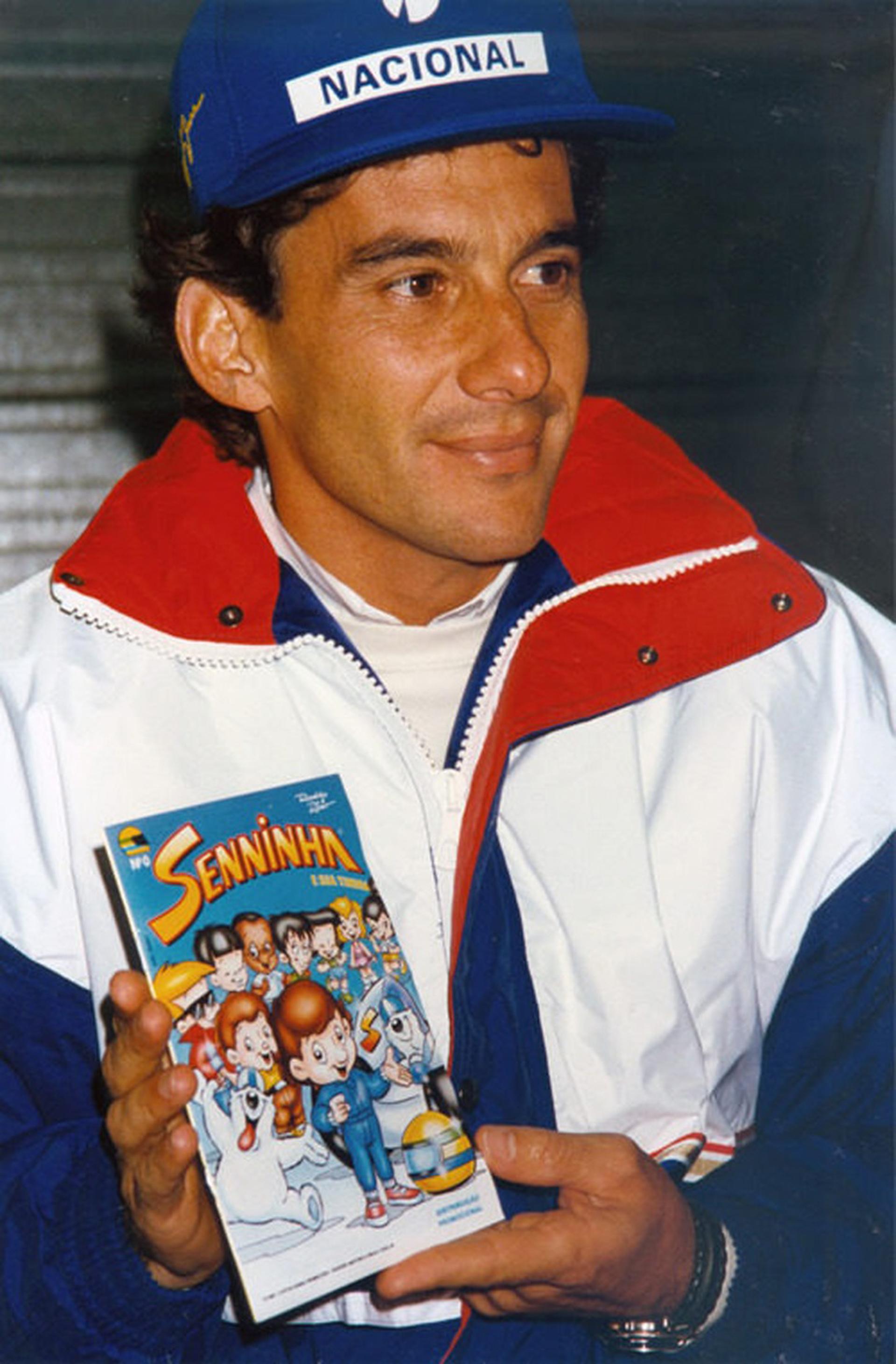 """Ayrton Senna provocó una revolución con su marca. Hasta tuvo su propia serie de historietas que se llamaron """"Senninha"""""""