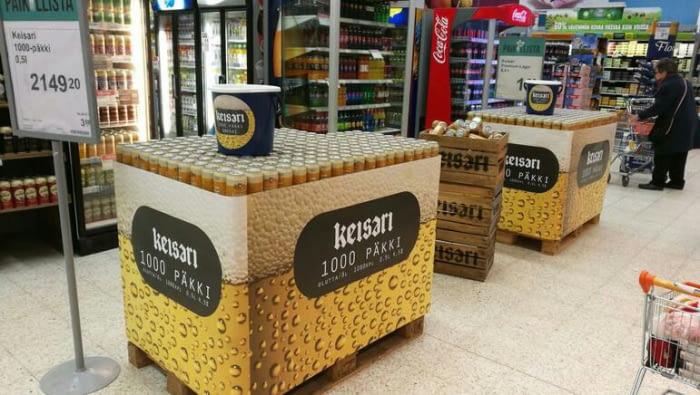 El paquete con las mil Keisari Lager tiene un precio de poco más de 2.000 euros o 2.340 dólares