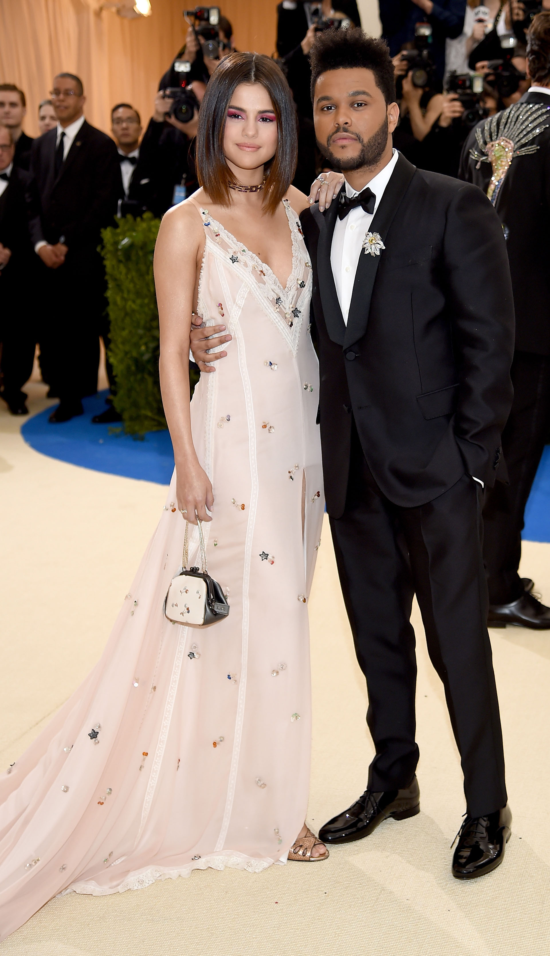 Selena Gomez junto a Abel Tesfaye de The Weeknd(Getty Images)