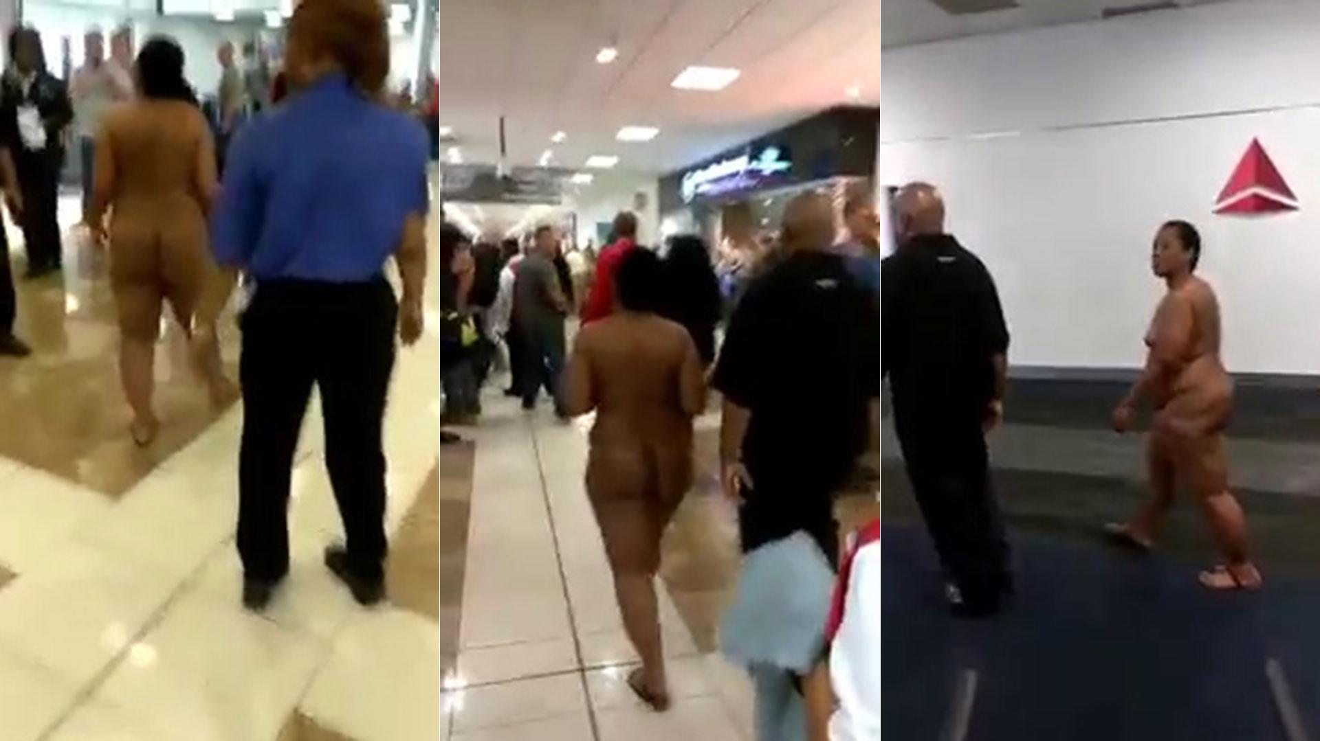 Mujeres Desnudas Por Las Calles Porno una mujer desnuda causó caos en un aeropuerto de estados