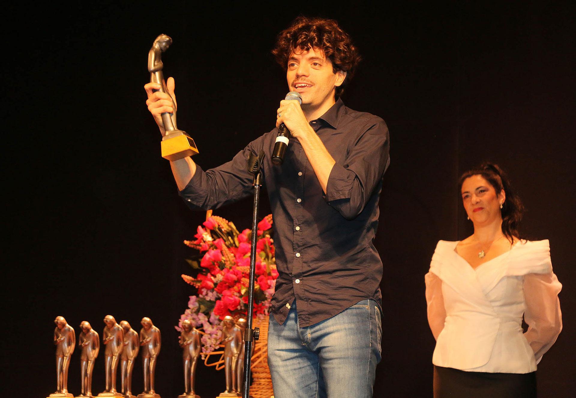 """Federico Salles fue premiado por su papel en el musical """"Franciscus"""""""