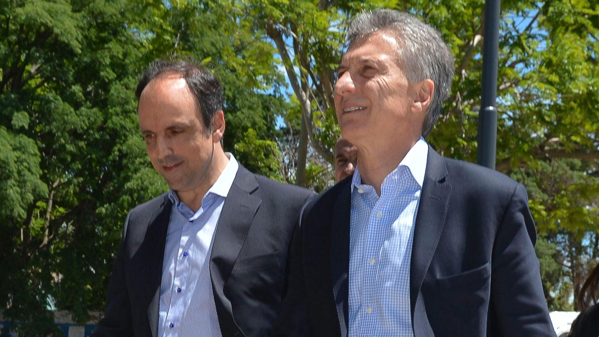 José Corral y Mauricio Macri (NA)
