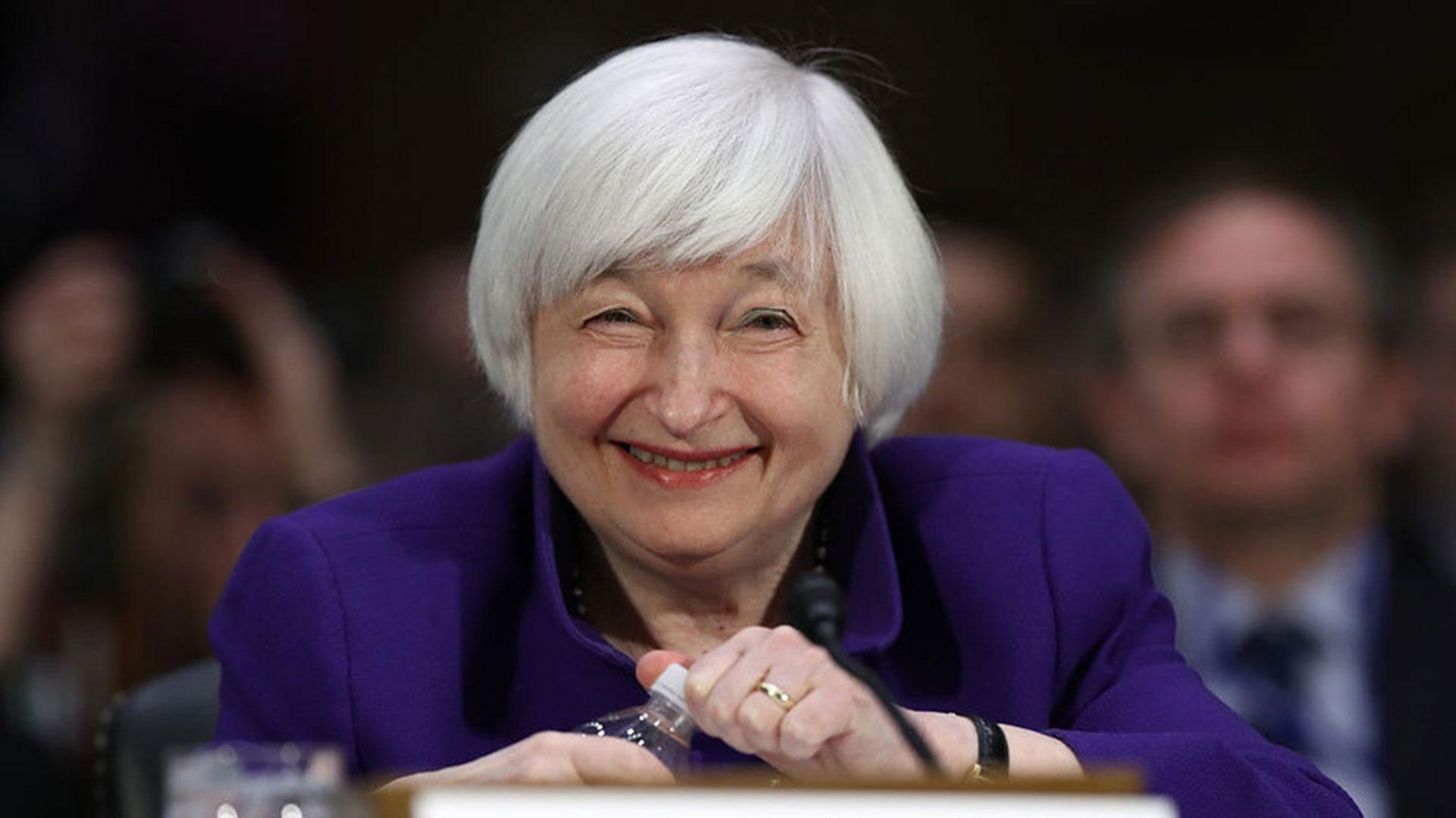 Janet Yellen, presidenta de la Fed (Getty)