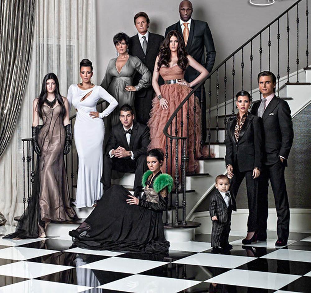 La postal navideña del clan Kardashian en 2012