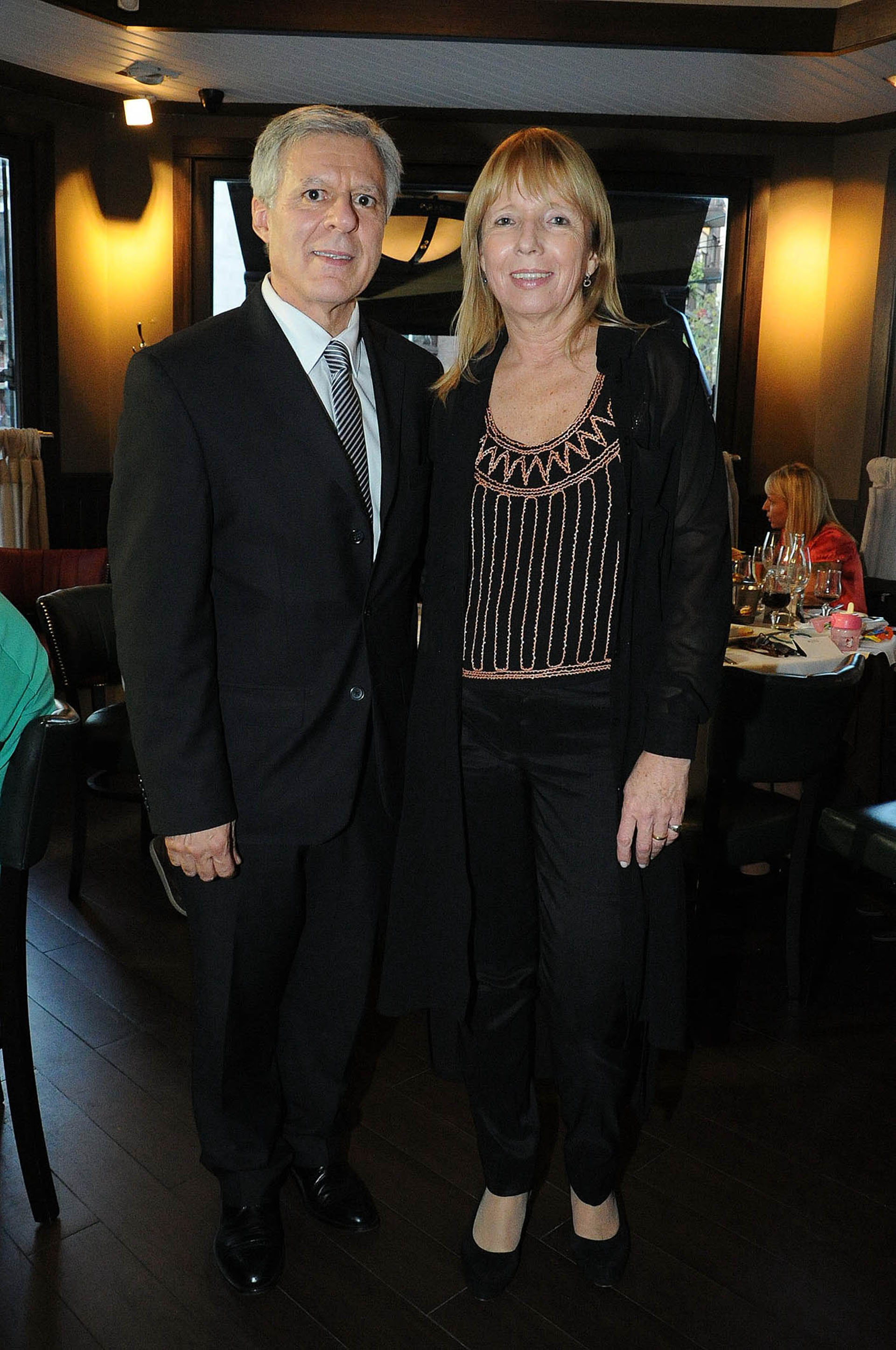 El doctor López Rosetti y su esposa