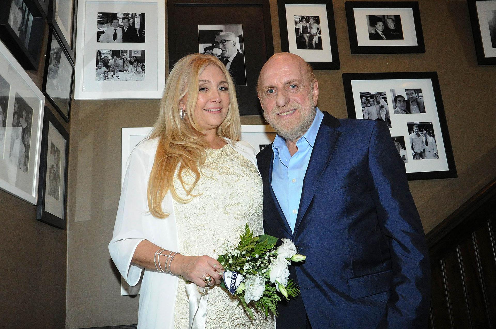 Cecilia Di Carlo y Horacio pagani se habían casado en Las Vegas