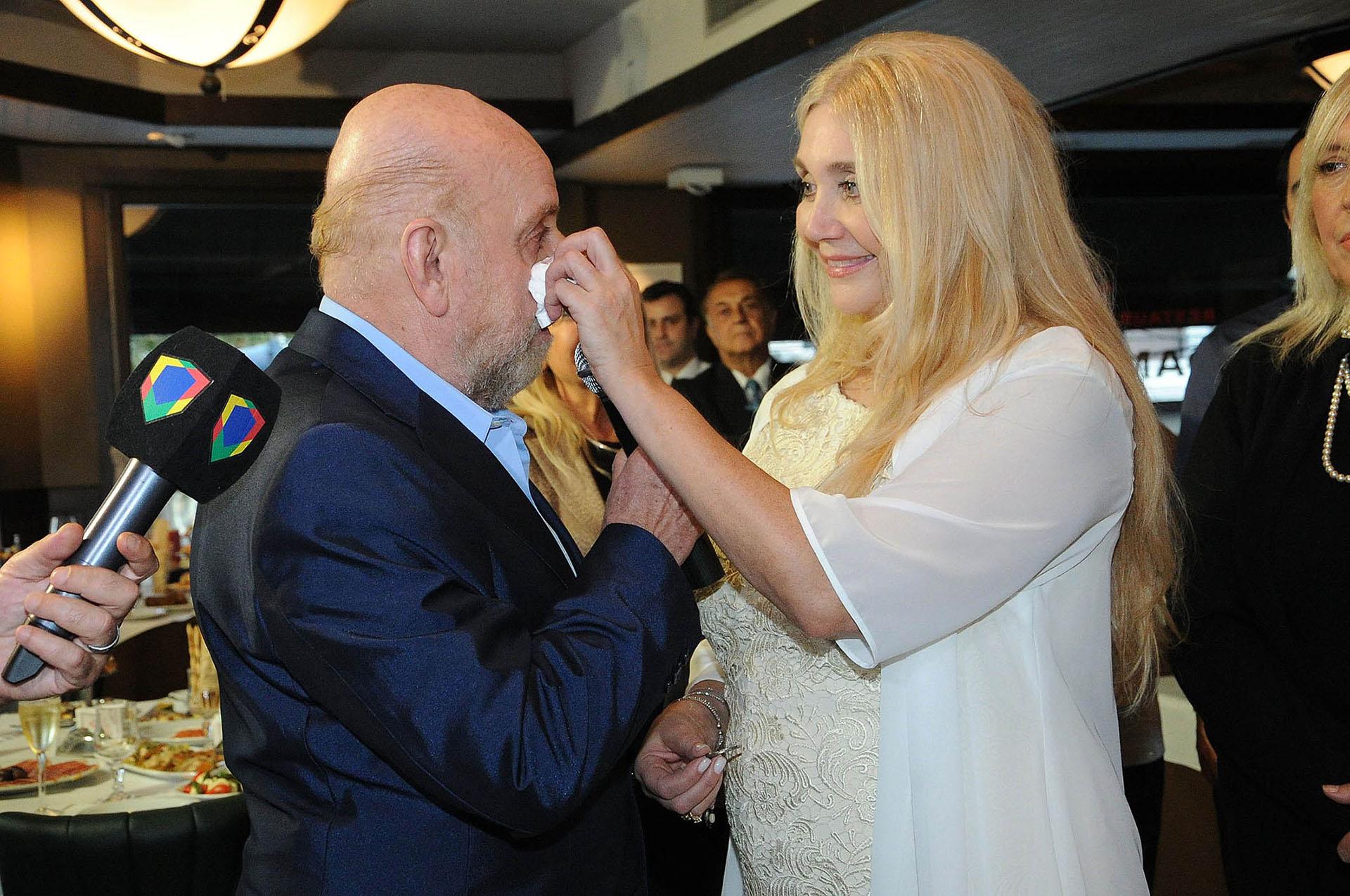 Horacio Pagani también se emocionó en la ceremonia