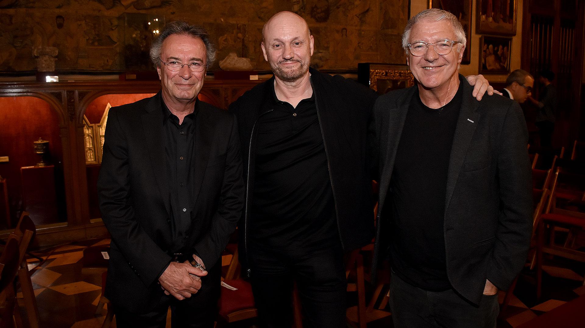 Oscar Martínez, Juan Campanella y Carlos Ares