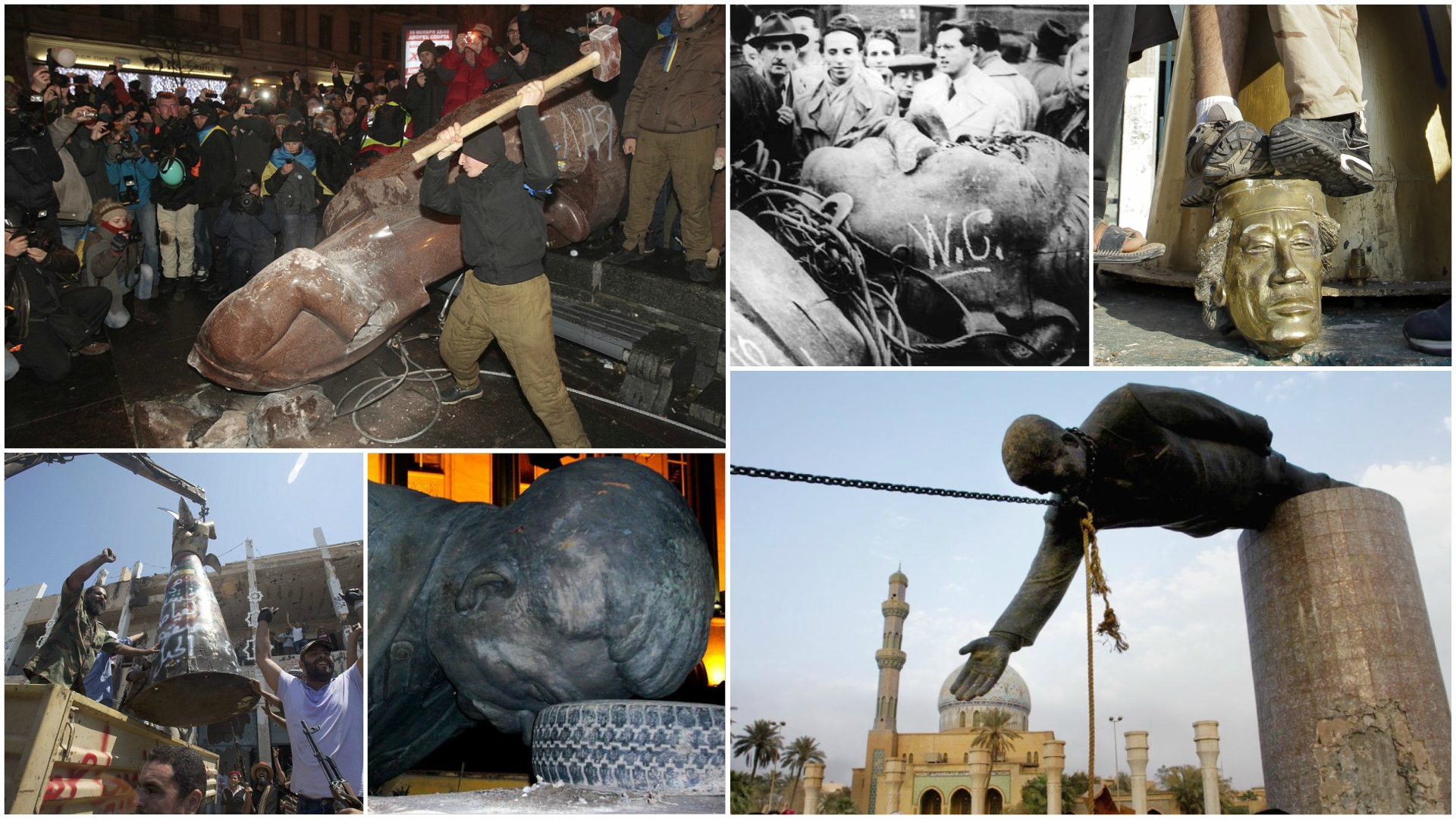 Otras caídas de estatuas y símbolos que representaron el final de una era - Infobae