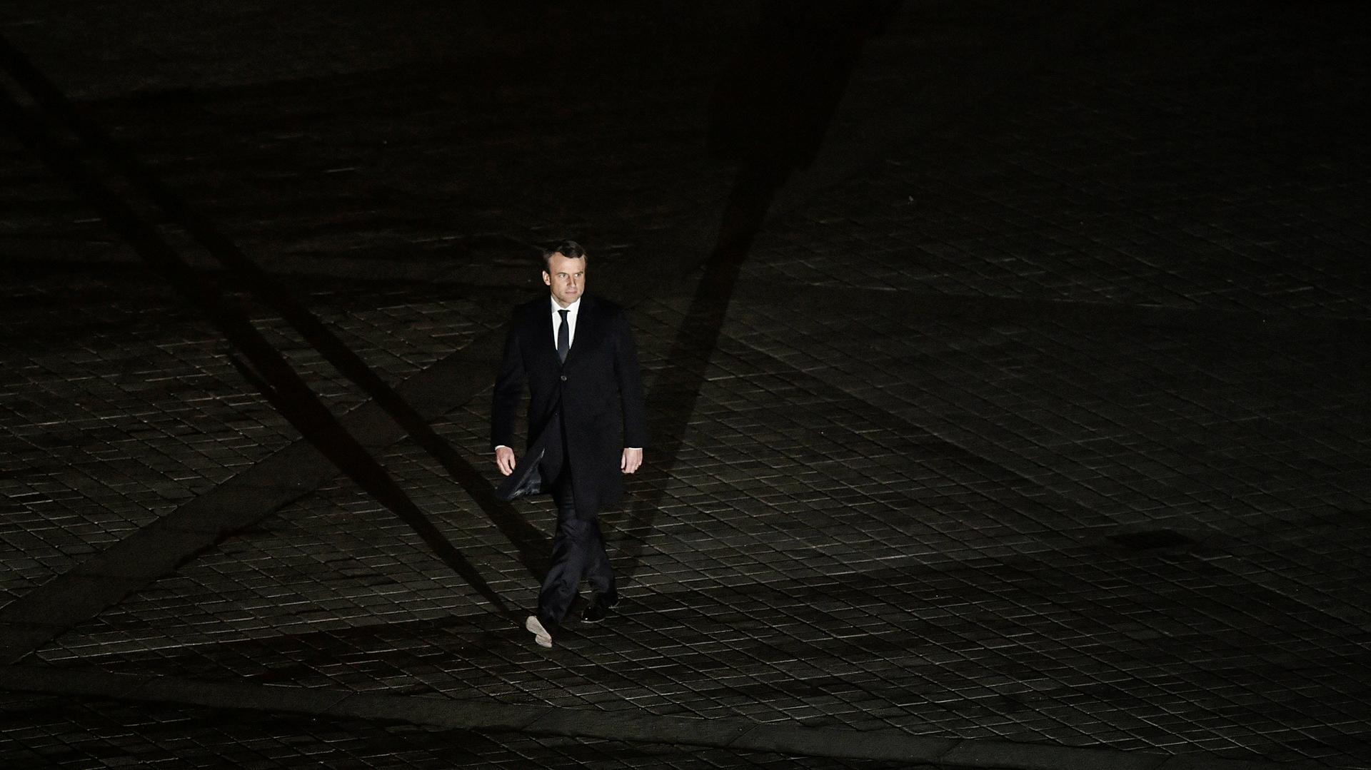 La larga y solitaria caminata de la victoria de Emmanuel Macron (AFP)