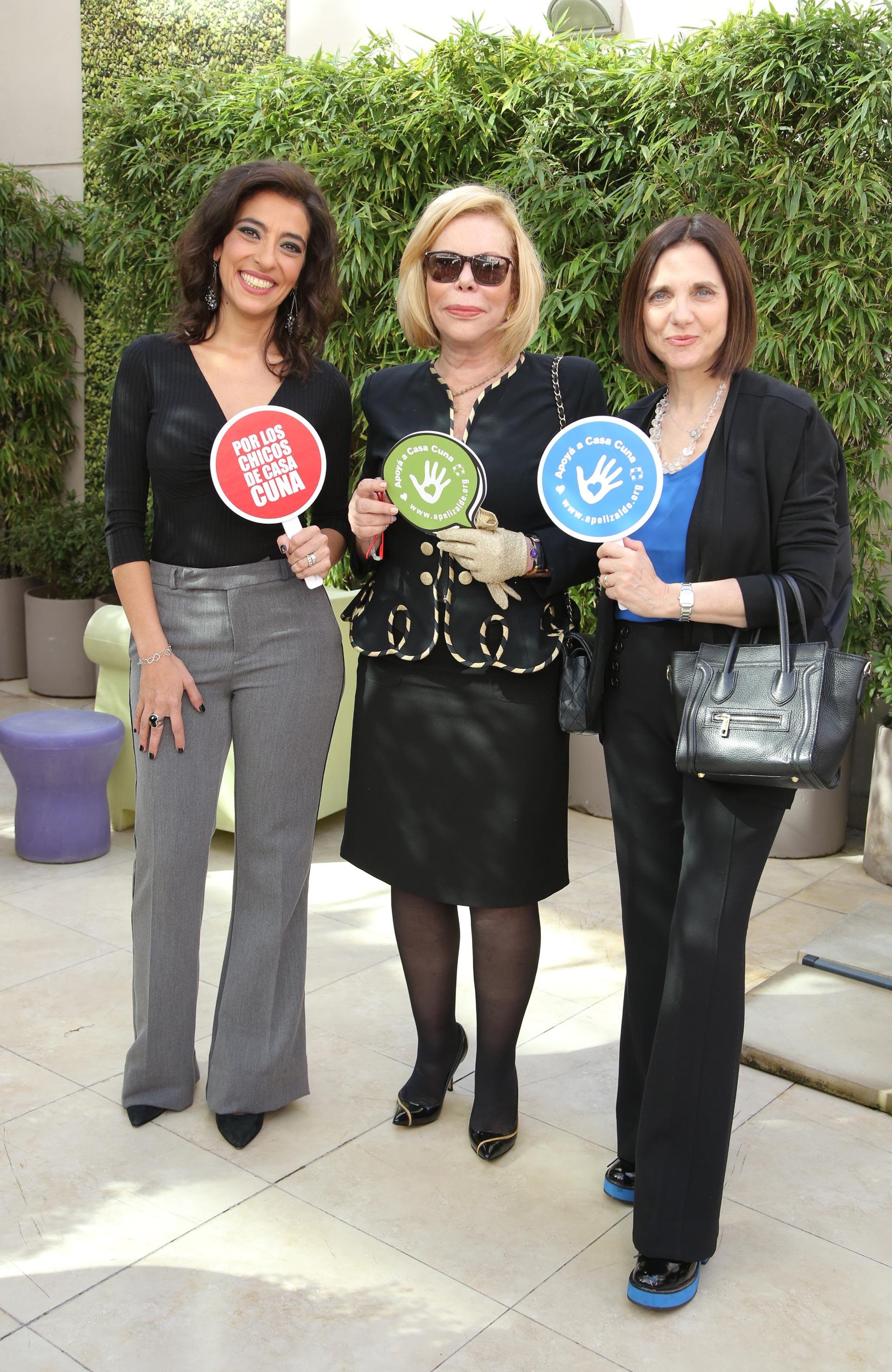 Silvina Chediek, Roxy Vázquez y Marina Doredo en el evento que tuvo lugar en la fundación