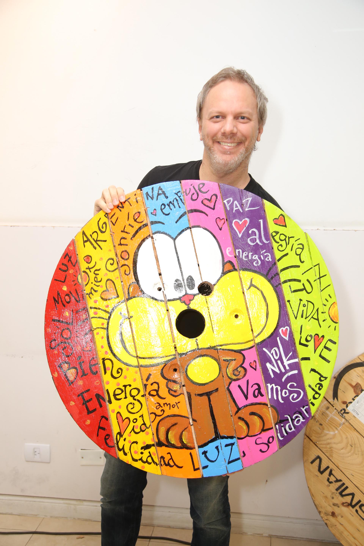 Nik realizó un diseño con uno de los pallets que se venderán por un precio menor en Agosto y estarán disponibles en Puerto Madero
