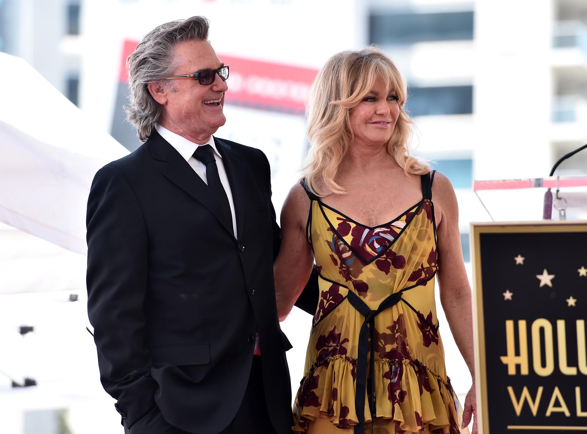 """Los actores son una de las parejas más duraderas y queridas de Hollywood. """"A tí Goldie, te debo mi maravillosa vida"""", aseguró Russell con lágrimas en los ojos"""