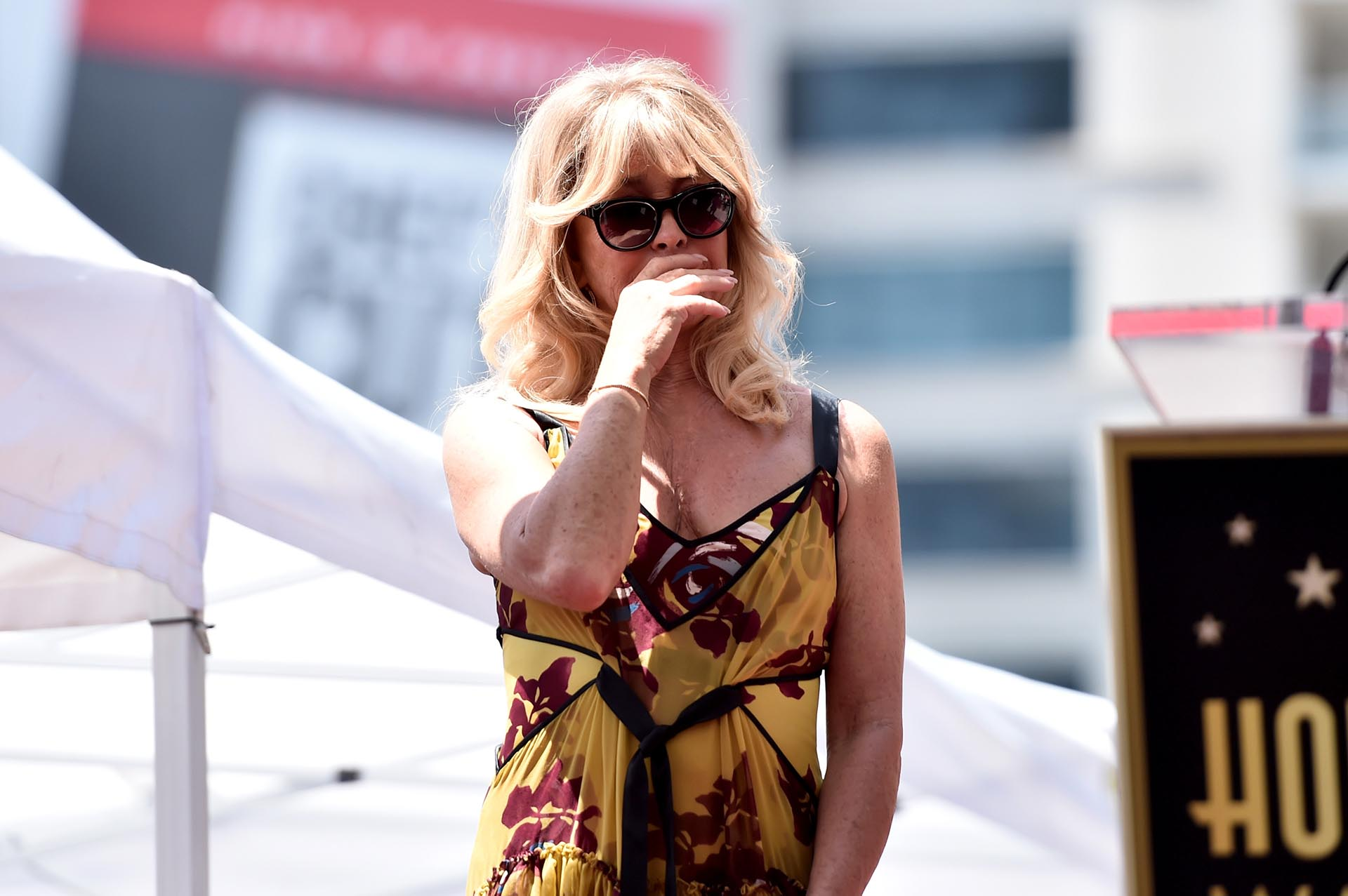 Goldie Hawn tampoco no pudo contener las lágrimas y rompió en llanto al escuchar las palabras de Kurt Russell