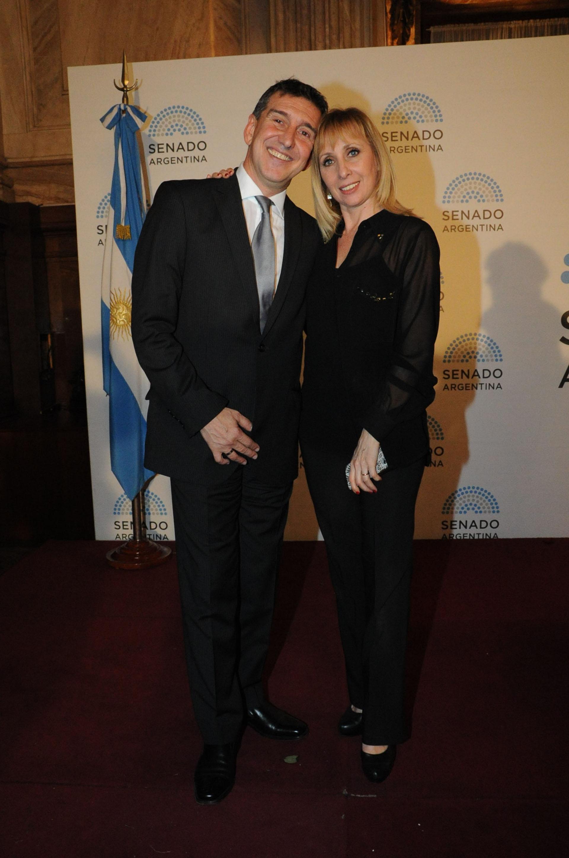 Julio Bocca y Eleonora Cassano, compartieron como grandes amigos que son, la ceremonia
