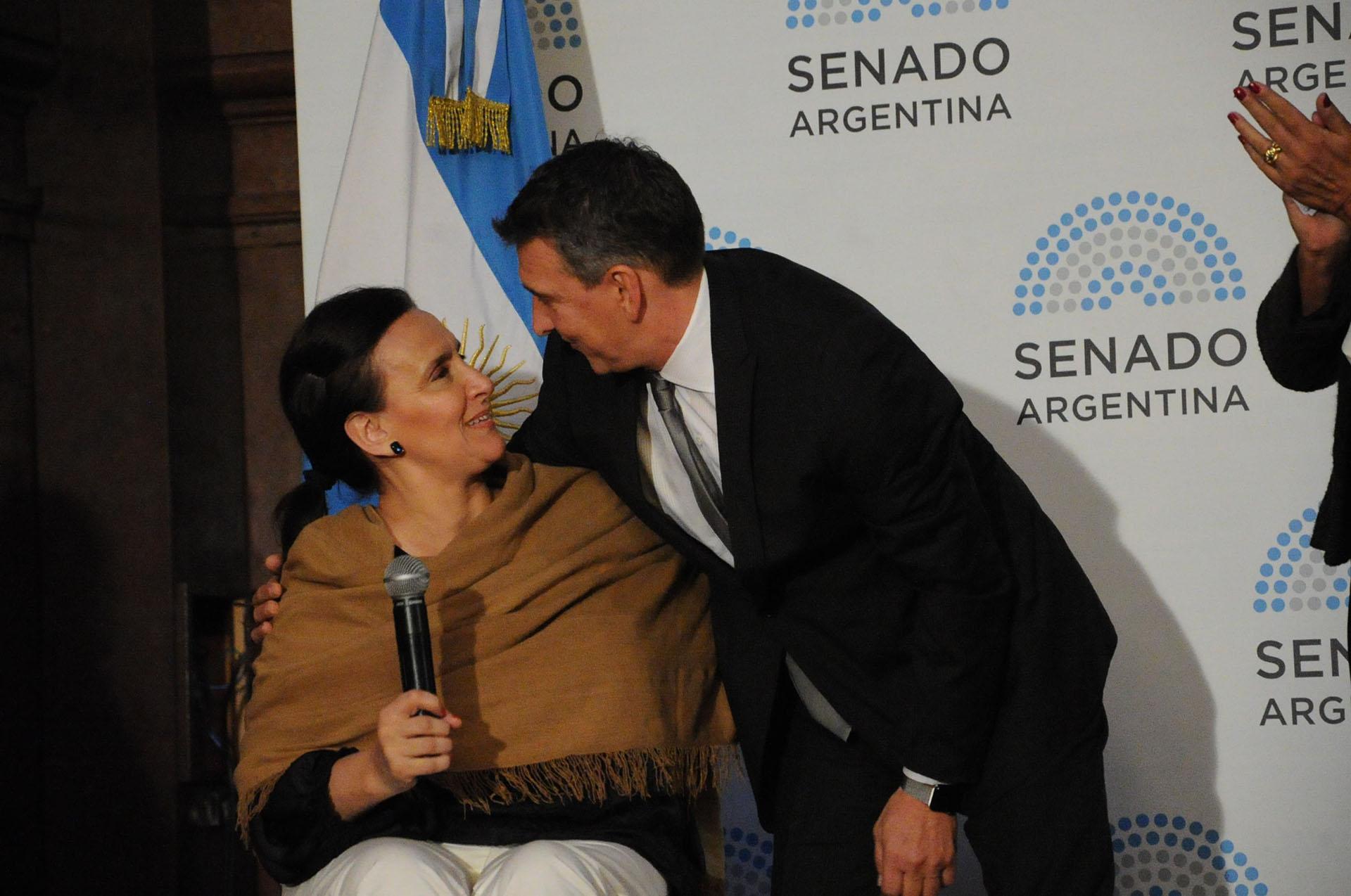 La vicepresidenta Gabriela Michetti, quien participó de la ceremonia