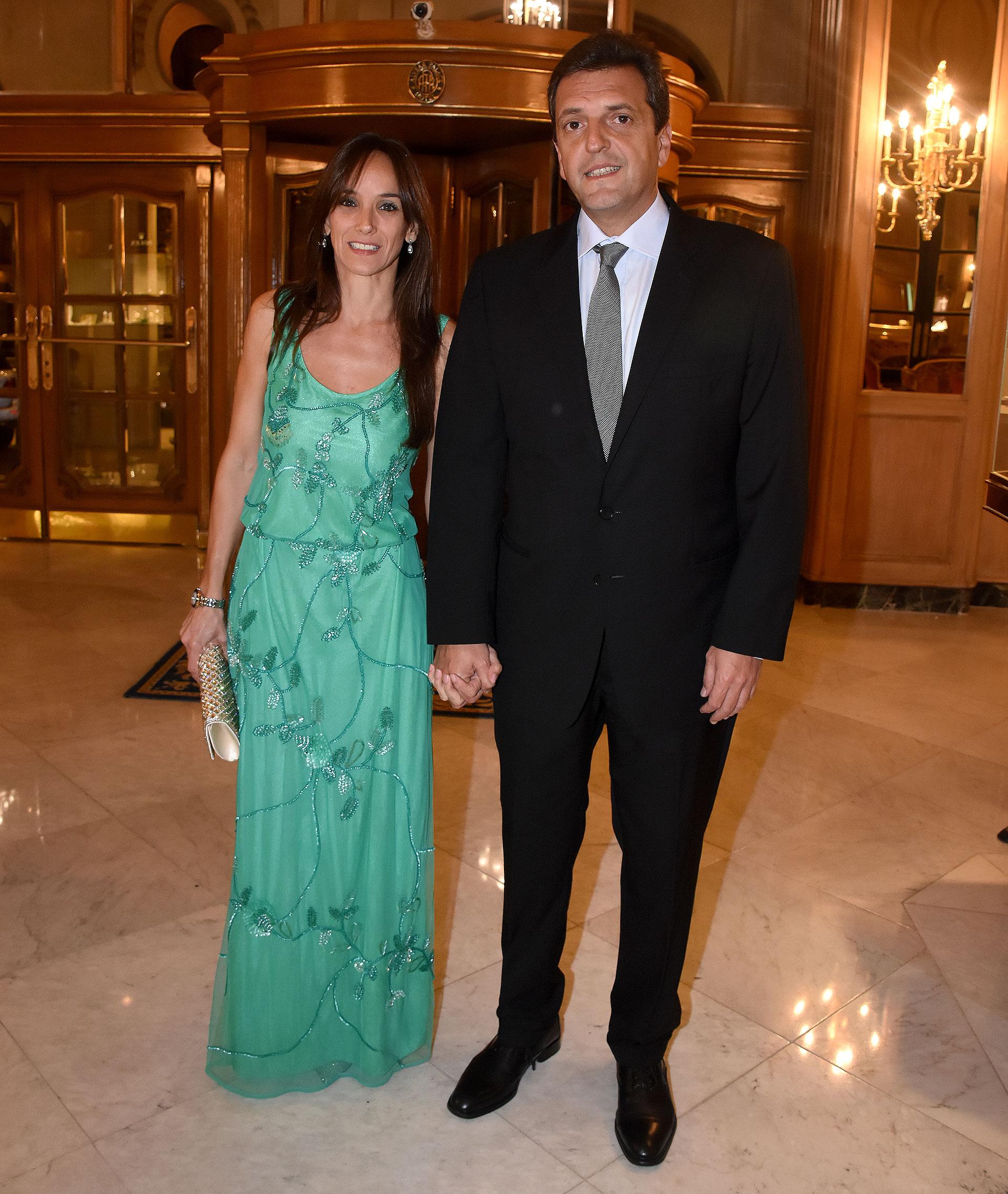 La secretaria de política Sanitaria y Desarrollo Humano de Tigre, Malena Galmarini, junto a su esposo, el diputado nacional Sergio Massa