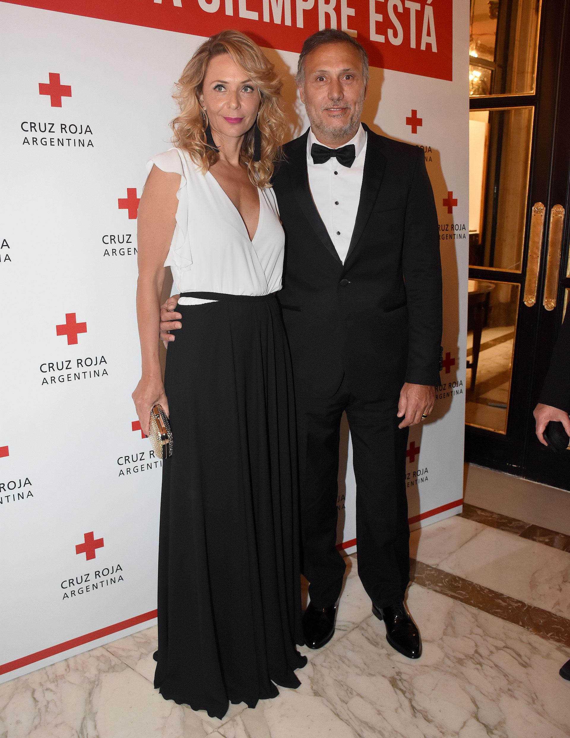 Evelyn Von Brocke junto a su flamante esposo, Juan Viaggio